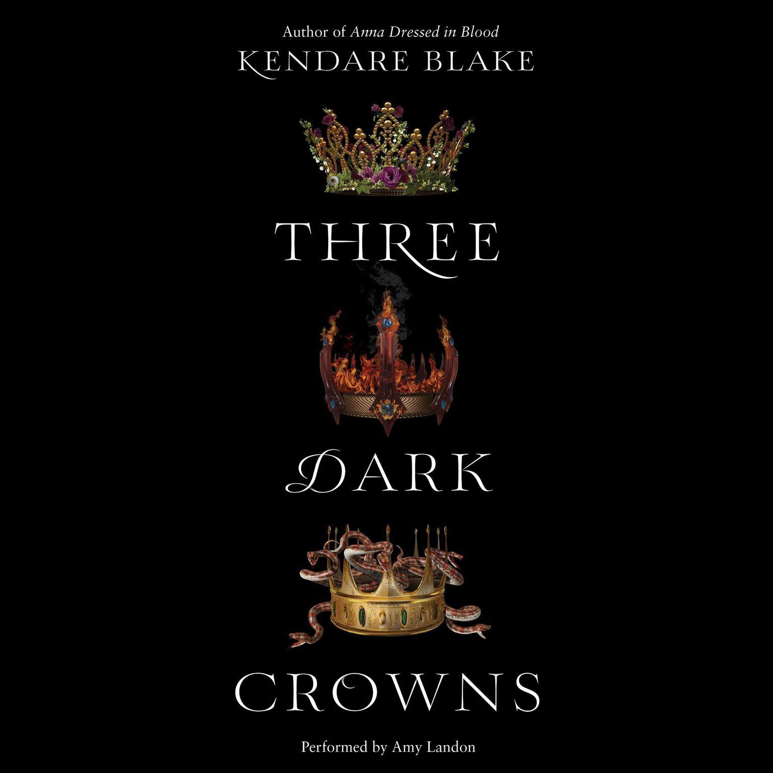 Printable Three Dark Crowns Audiobook Cover Art