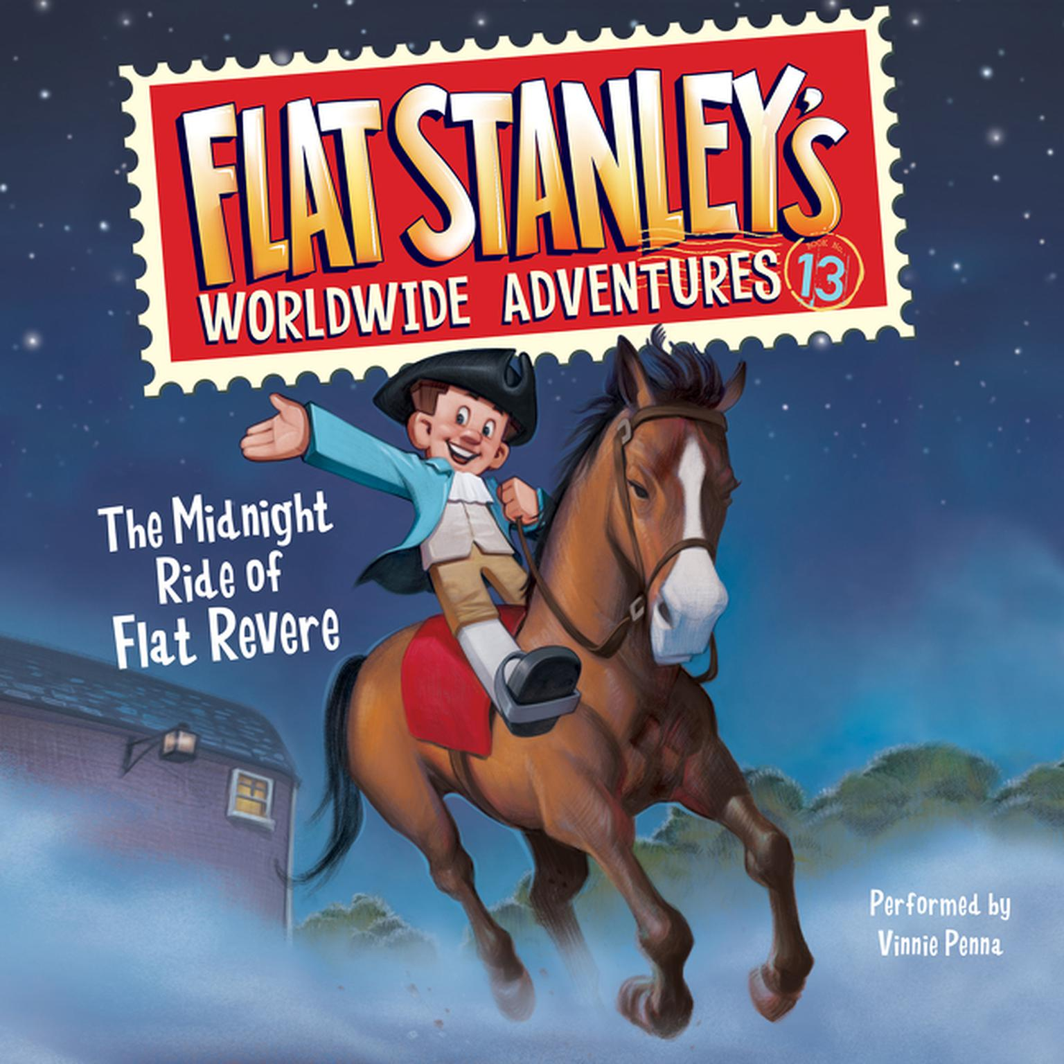 Printable Flat Stanley's Worldwide Adventures #13: The Midnight Ride of Flat Revere Unabri Audiobook Cover Art