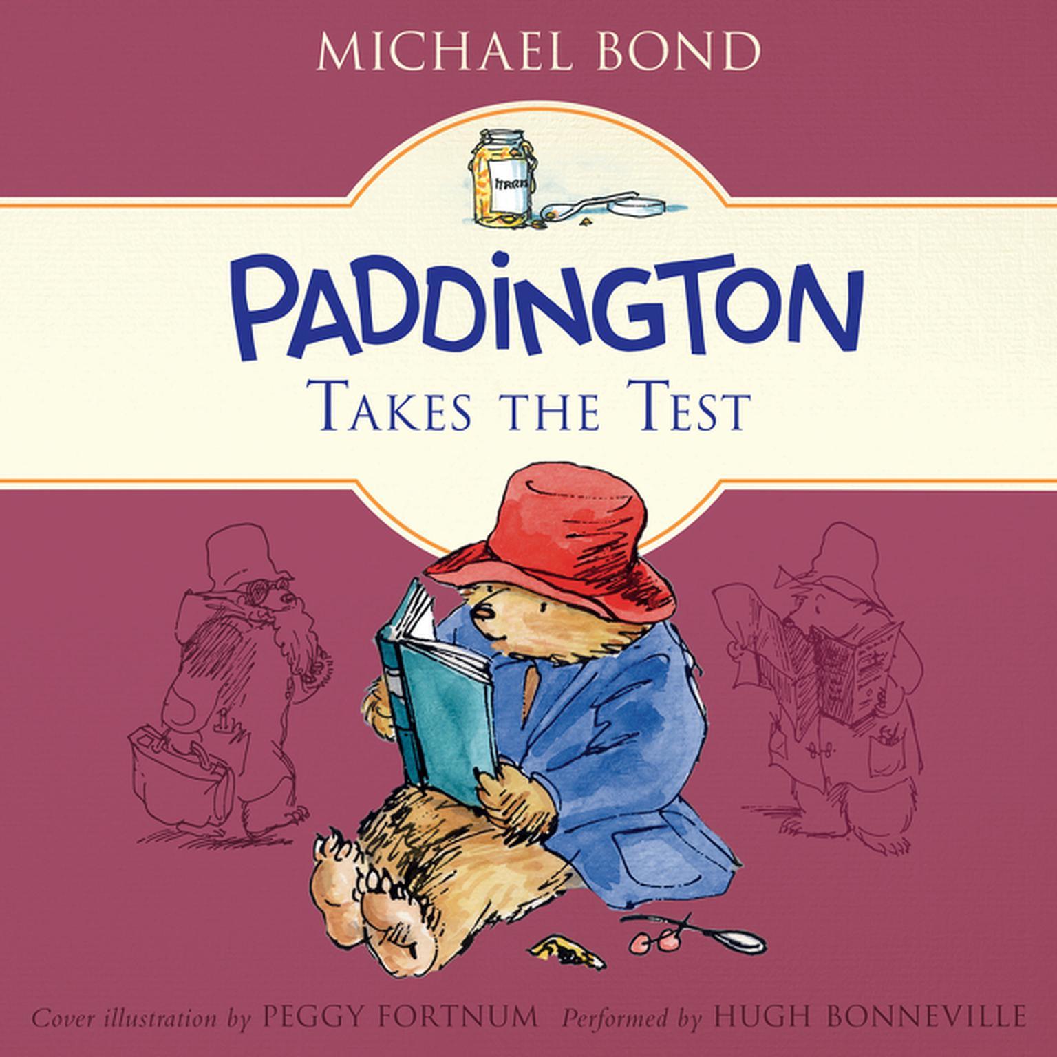 Printable Paddington Takes the Test Audiobook Cover Art
