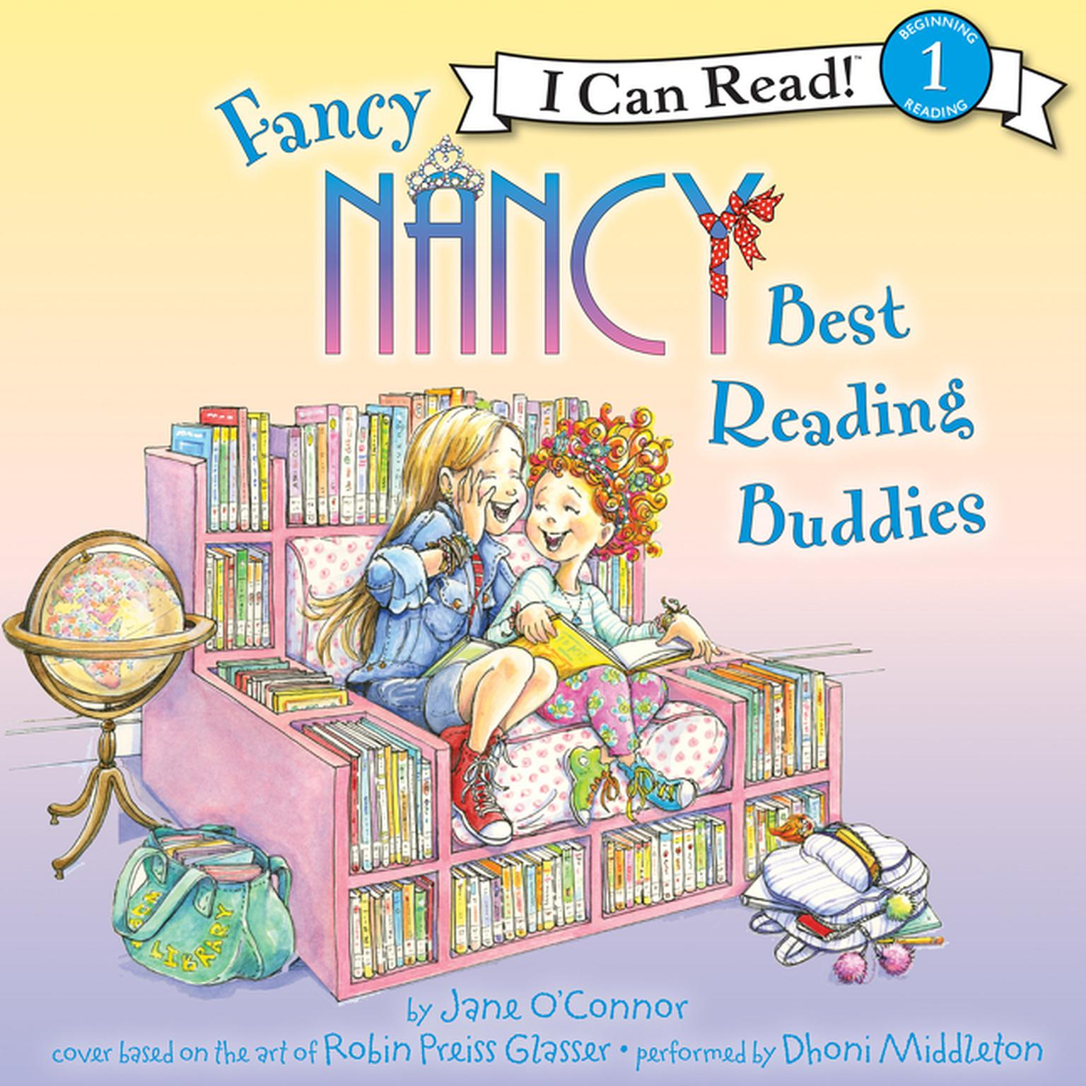 Printable Fancy Nancy: Best Reading Buddies Audiobook Cover Art