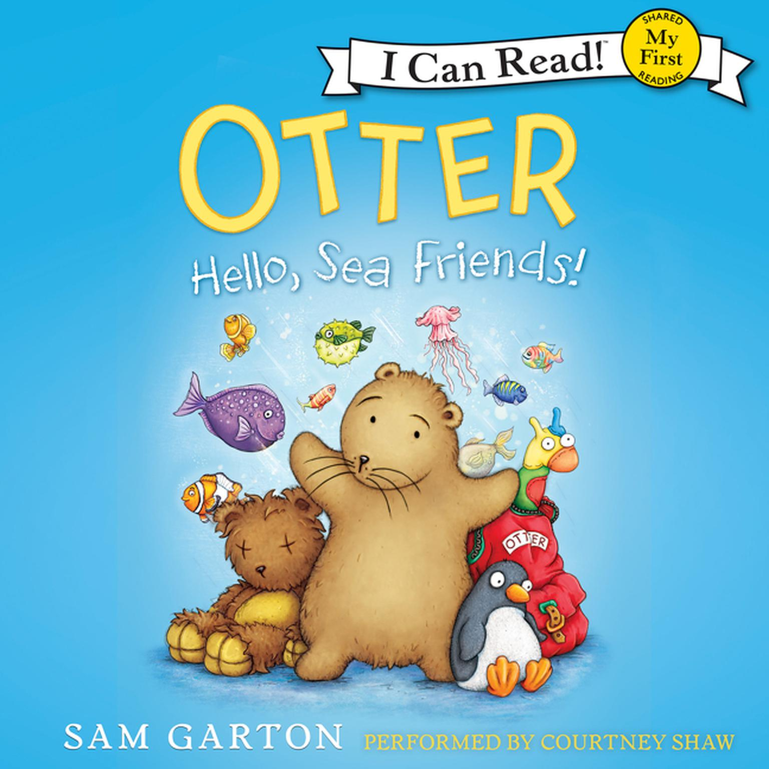 Printable Otter: Hello, Sea Friends! Audiobook Cover Art