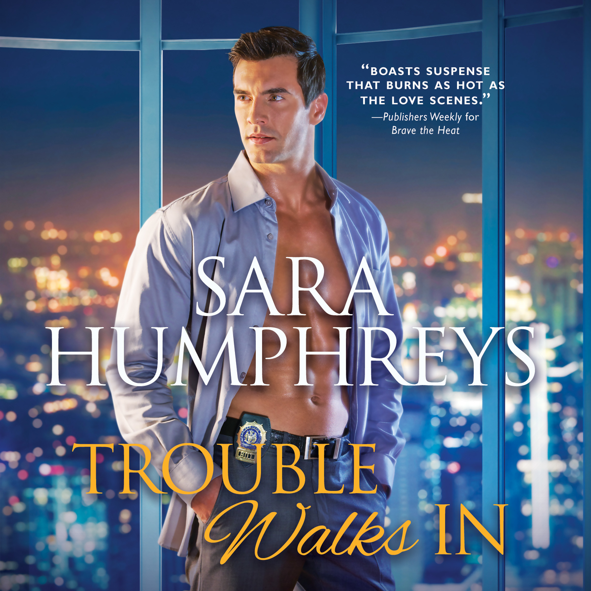 Printable Trouble Walks In Audiobook Cover Art