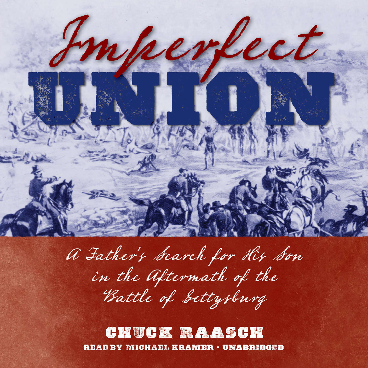 Printable Imperfect Union: A Father's Search for His Son in the Aftermath of the Battle of Gettysburg Audiobook Cover Art