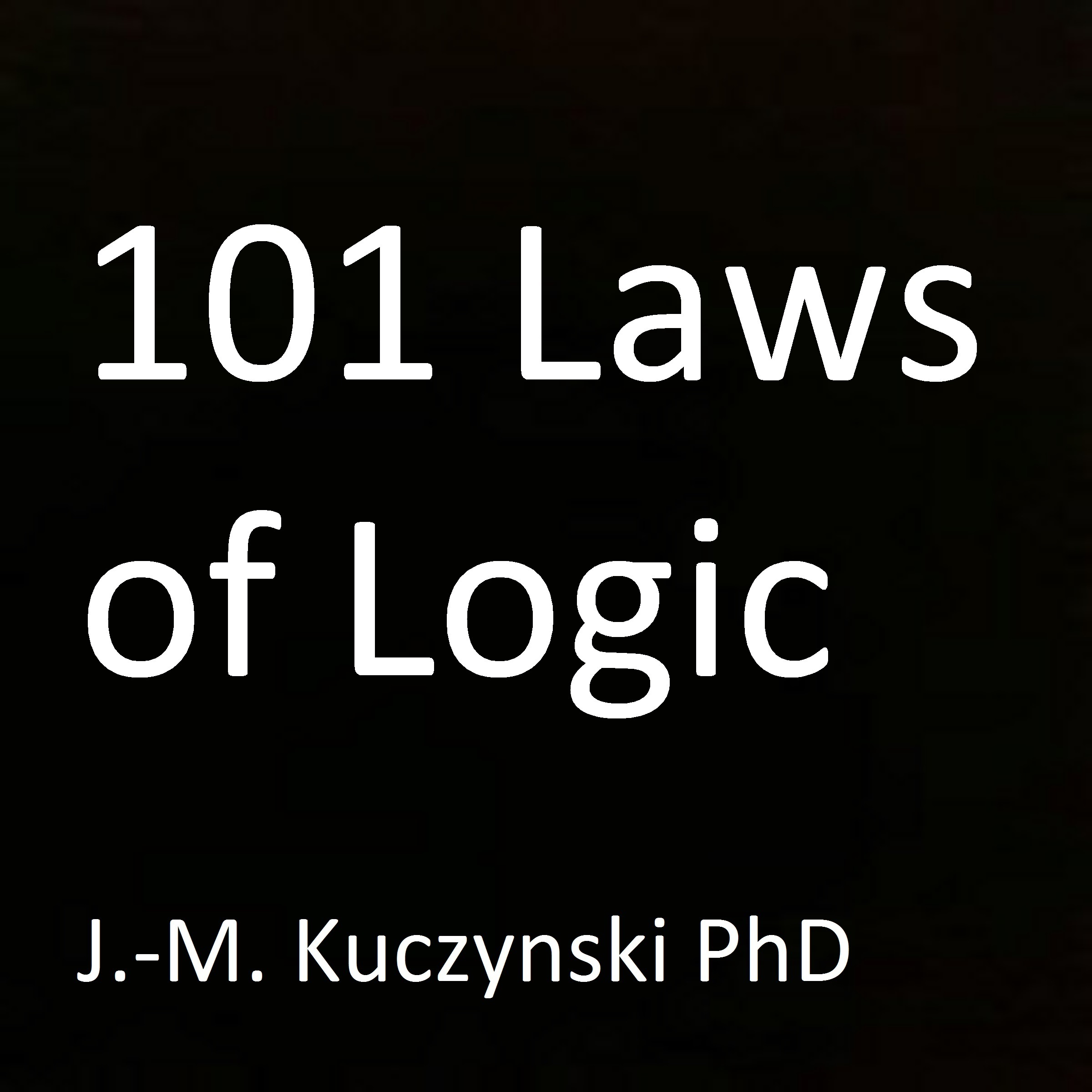 Printable 101 Laws of Logic Audiobook Cover Art