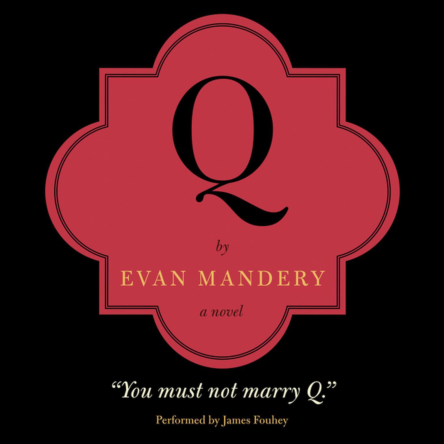 Printable Q: A Novel Audiobook Cover Art