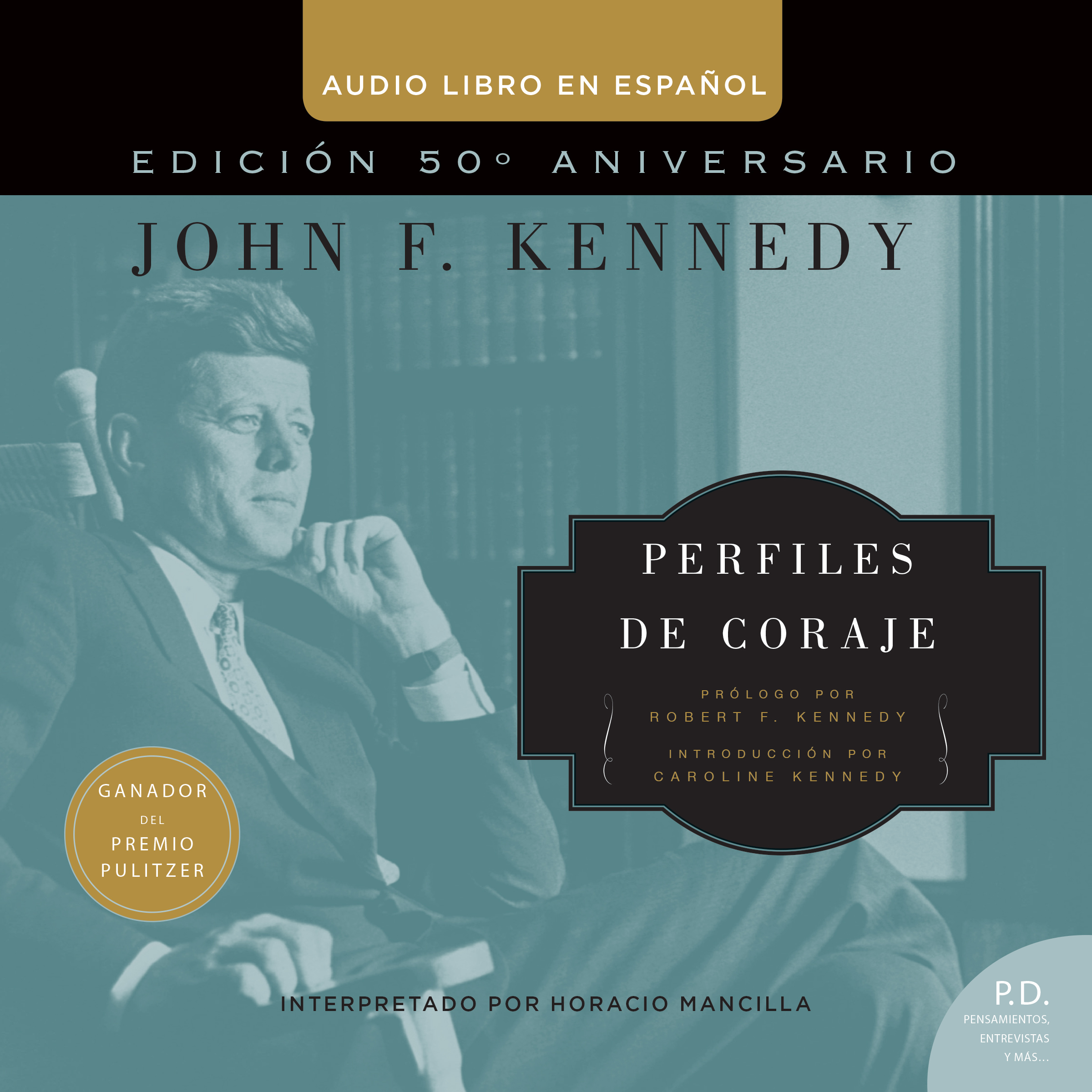 Printable Perfiles de Coraje Audiobook Cover Art
