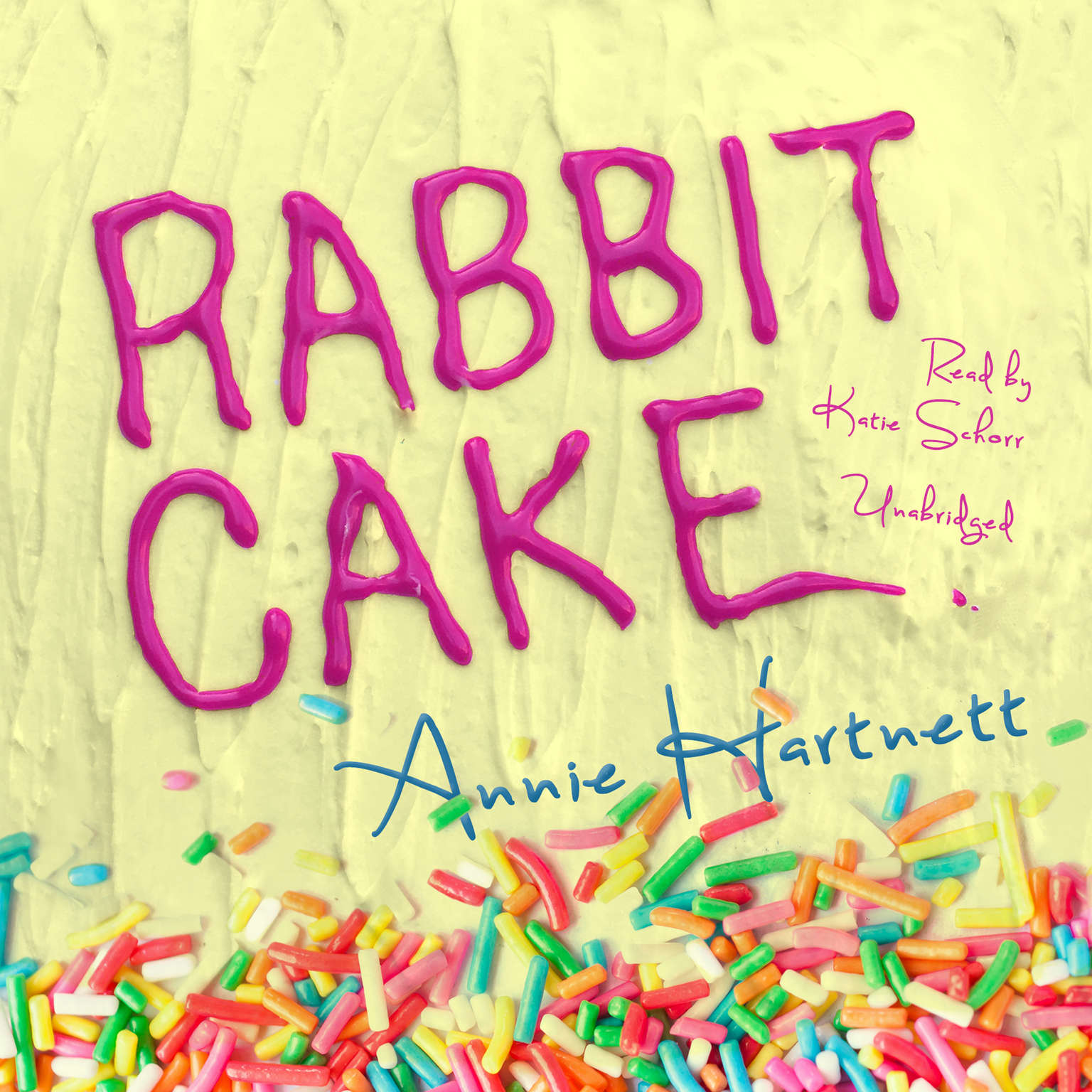 Printable Rabbit Cake Audiobook Cover Art