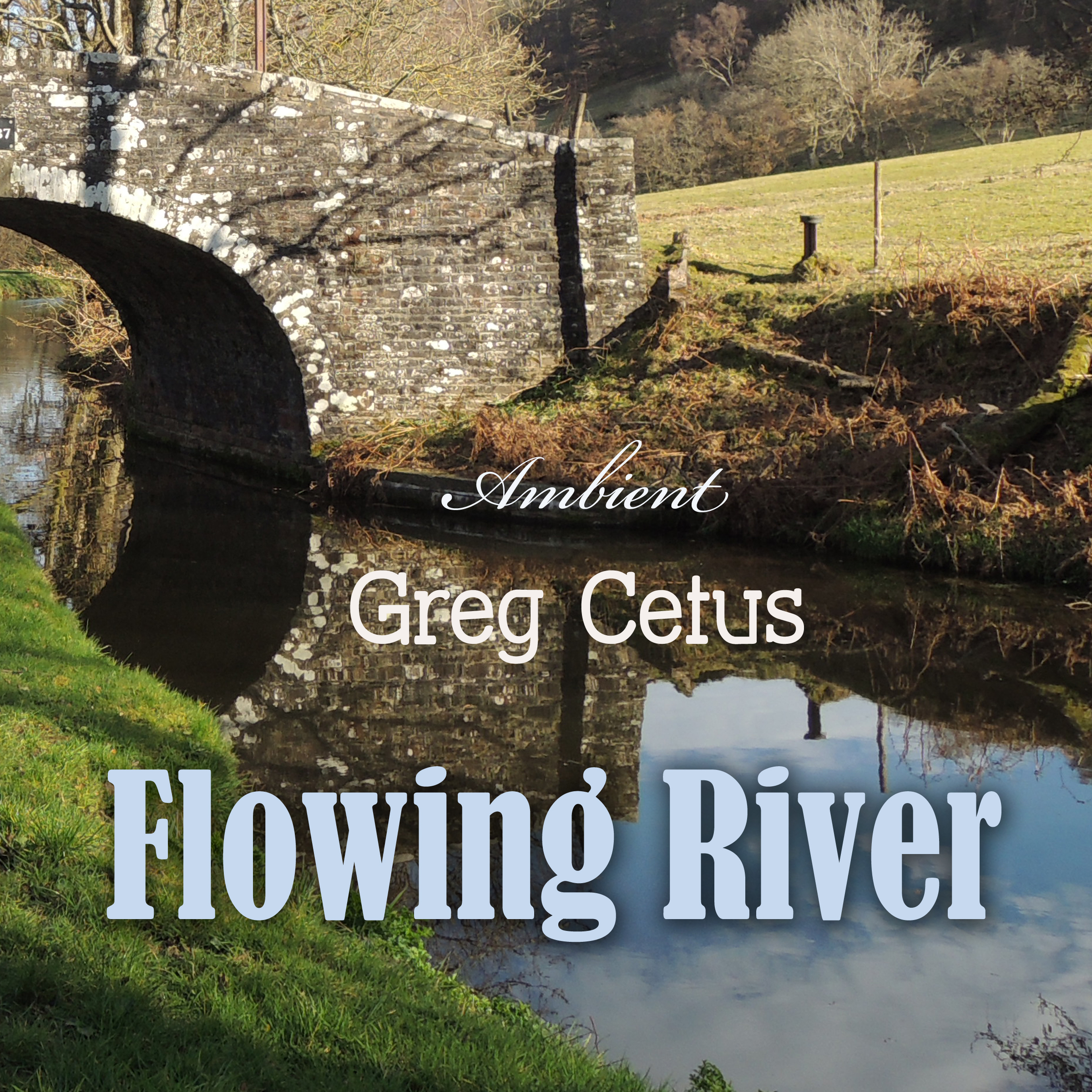Printable Flowing River: Soundscape for Mindful State and Relaxation Audiobook Cover Art