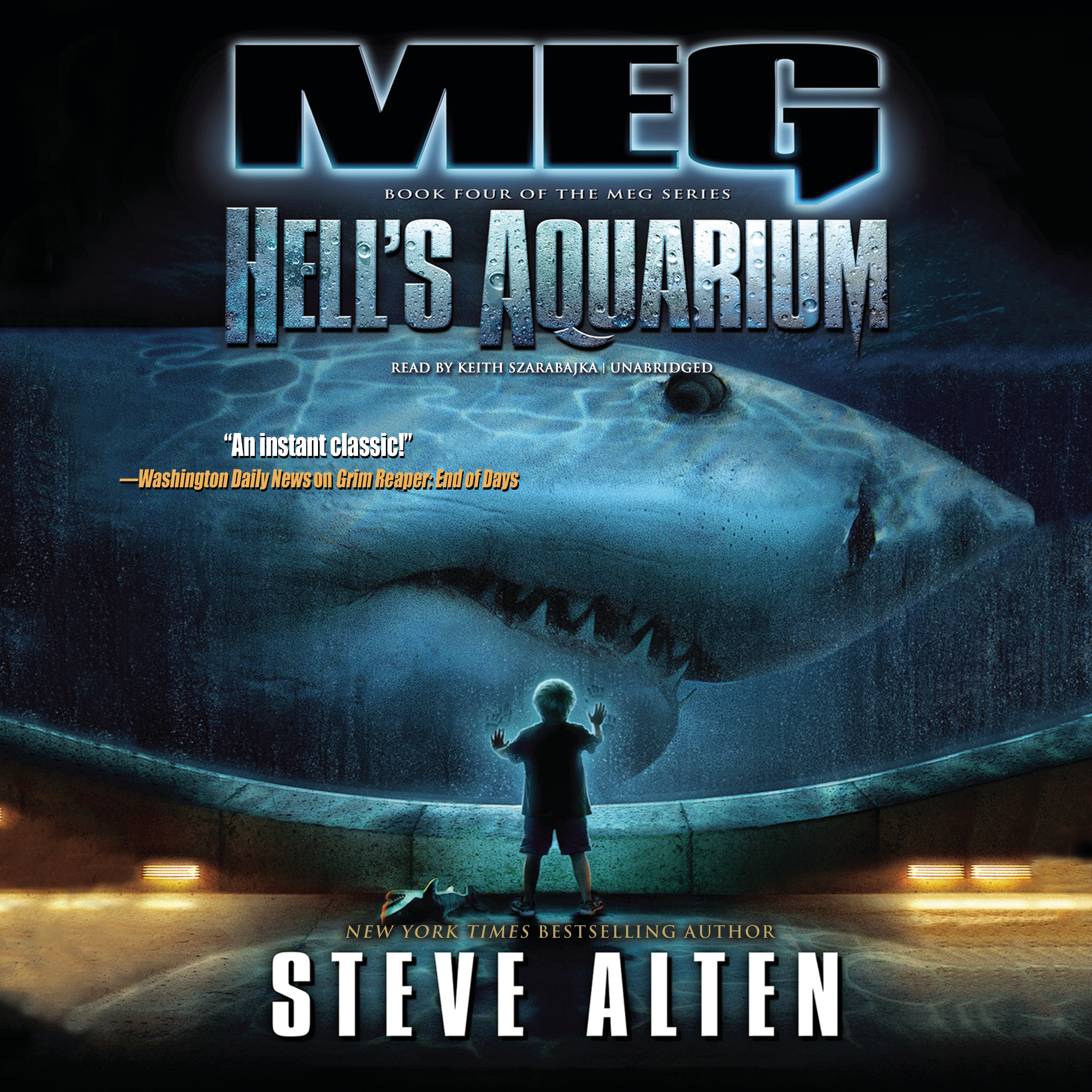 Printable Meg: Hell's Aquarium Audiobook Cover Art