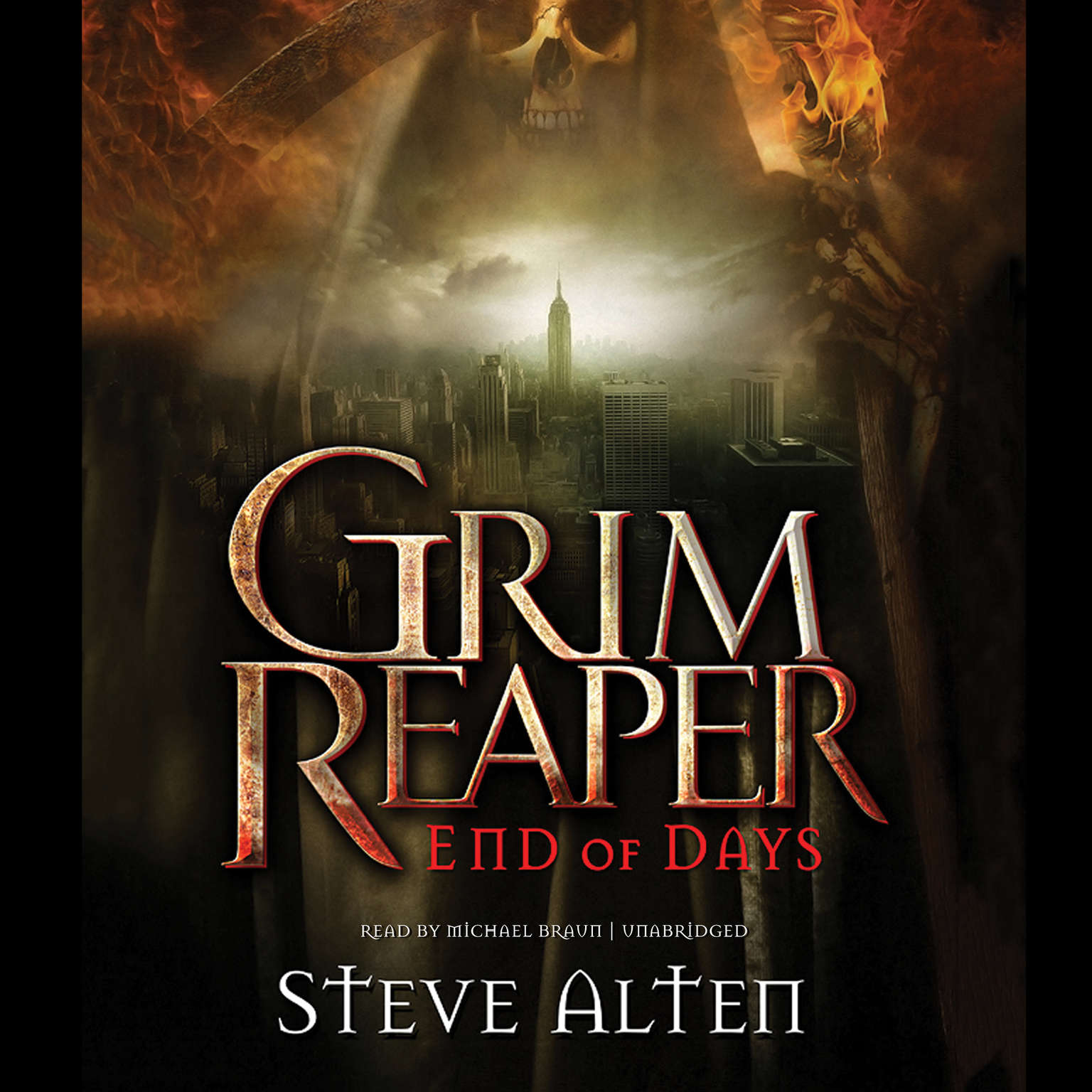 Printable Grim Reaper: End of Days Audiobook Cover Art