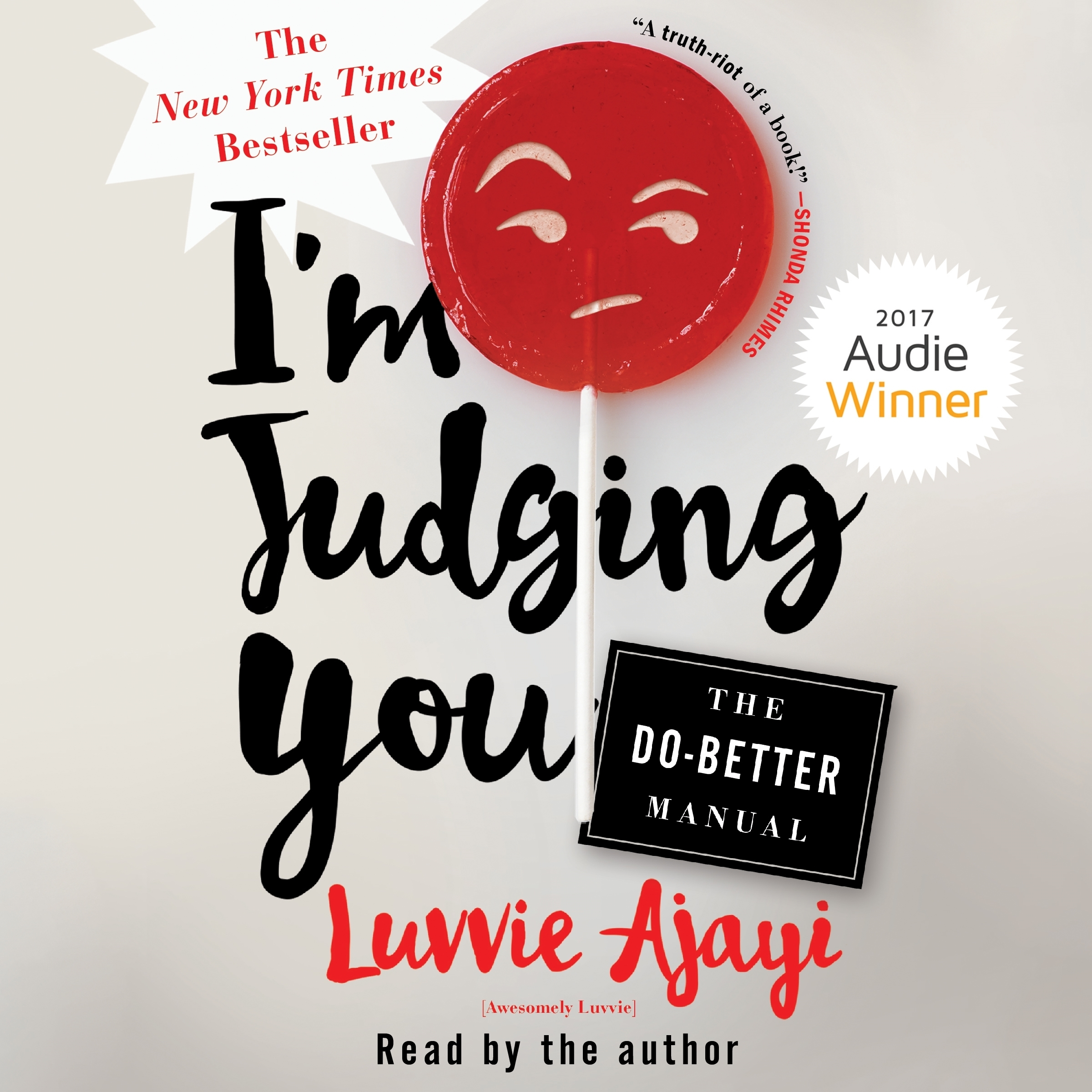 Printable I'm Judging You: The Do-Better Manual Audiobook Cover Art