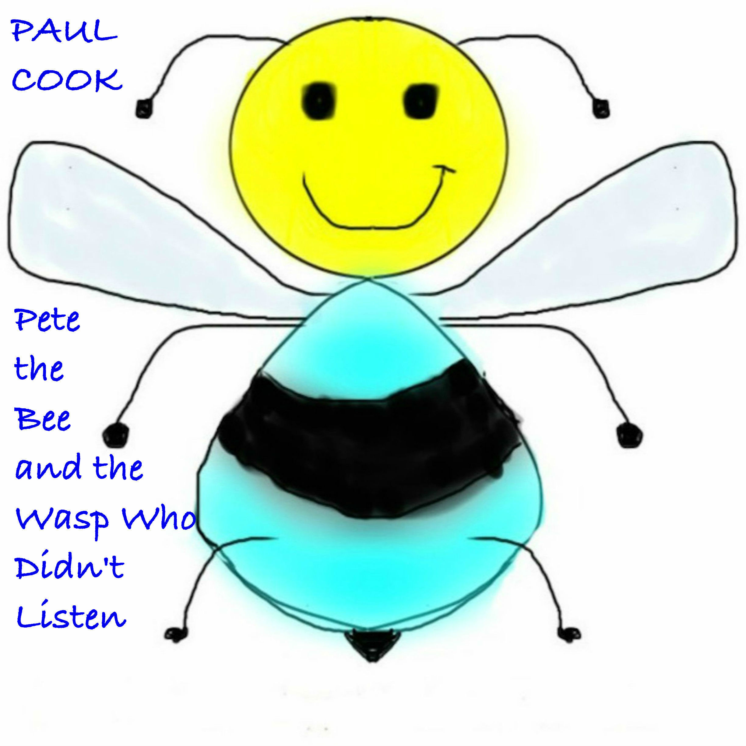 Printable Pete the Bee and the Wasp Who Didn't Listen Audiobook Cover Art
