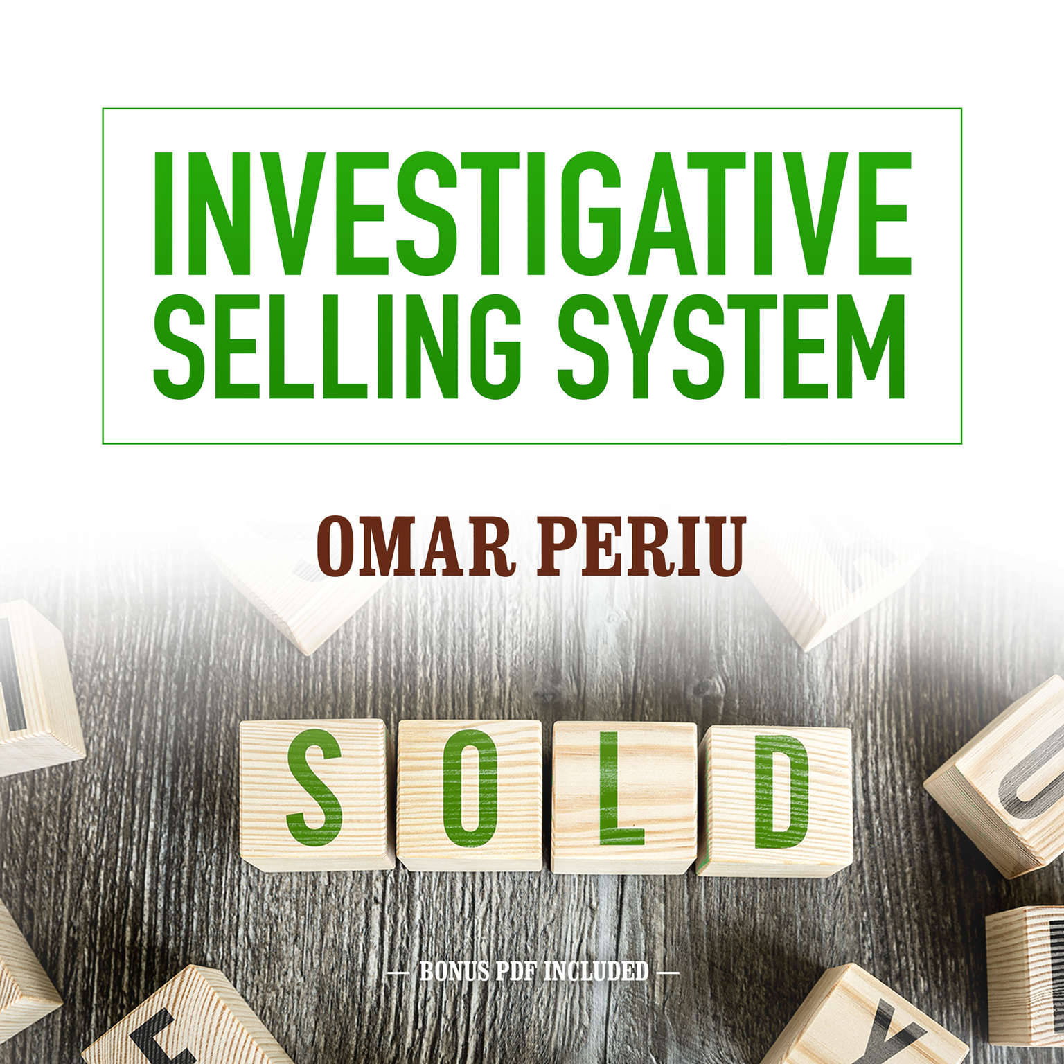 Printable Investigative Selling System Audiobook Cover Art