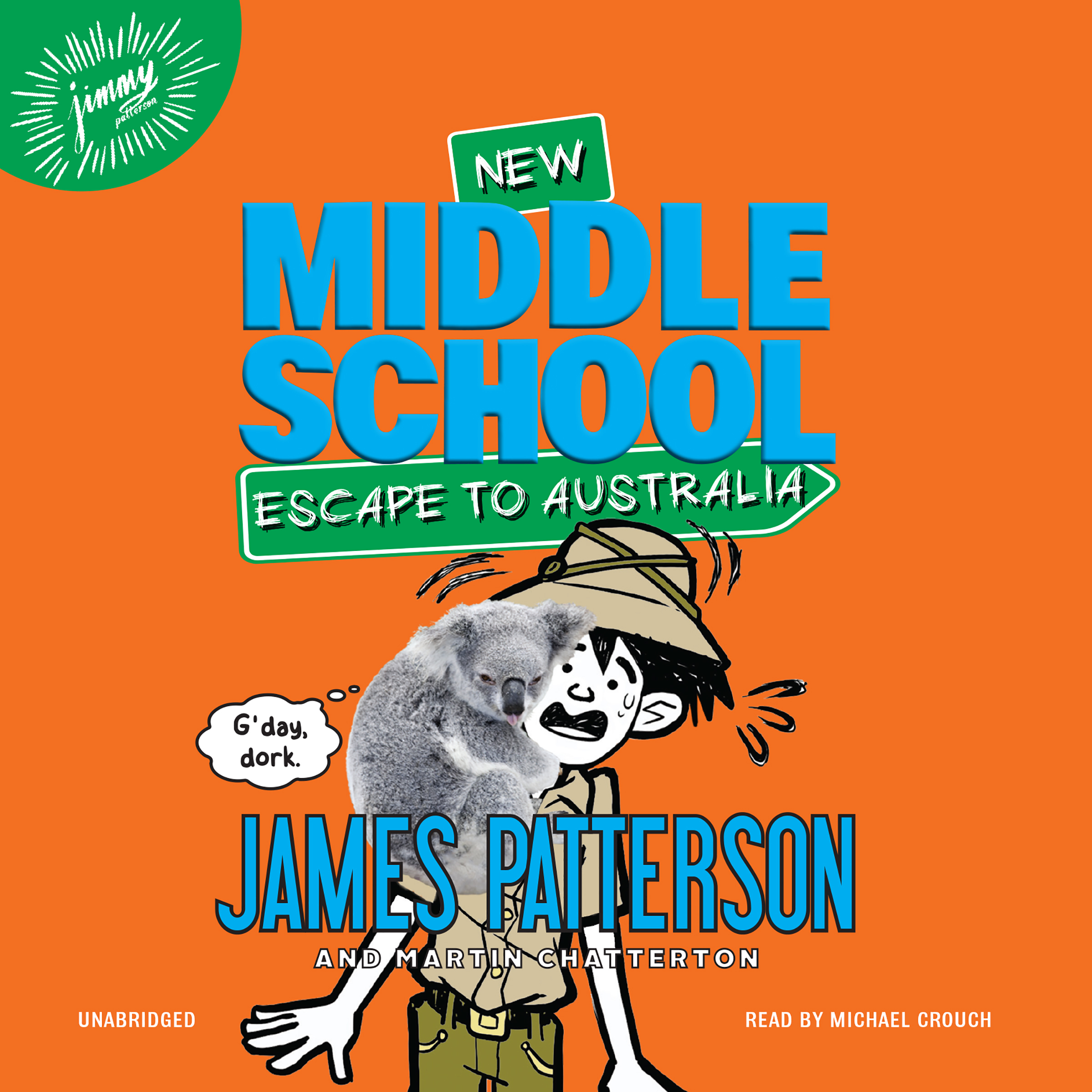 Printable Middle School: Escape to Australia Audiobook Cover Art