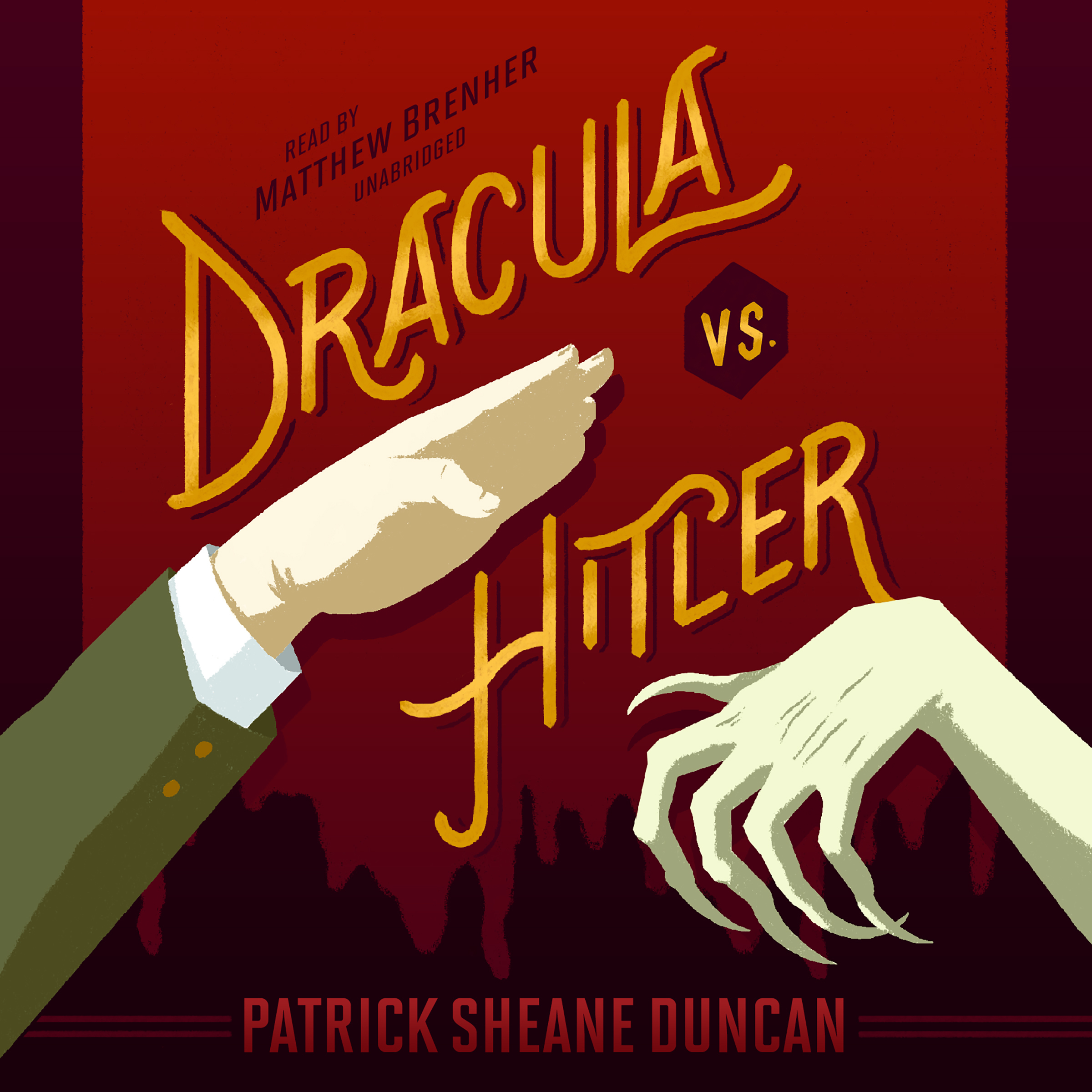 Printable Dracula vs. Hitler Audiobook Cover Art