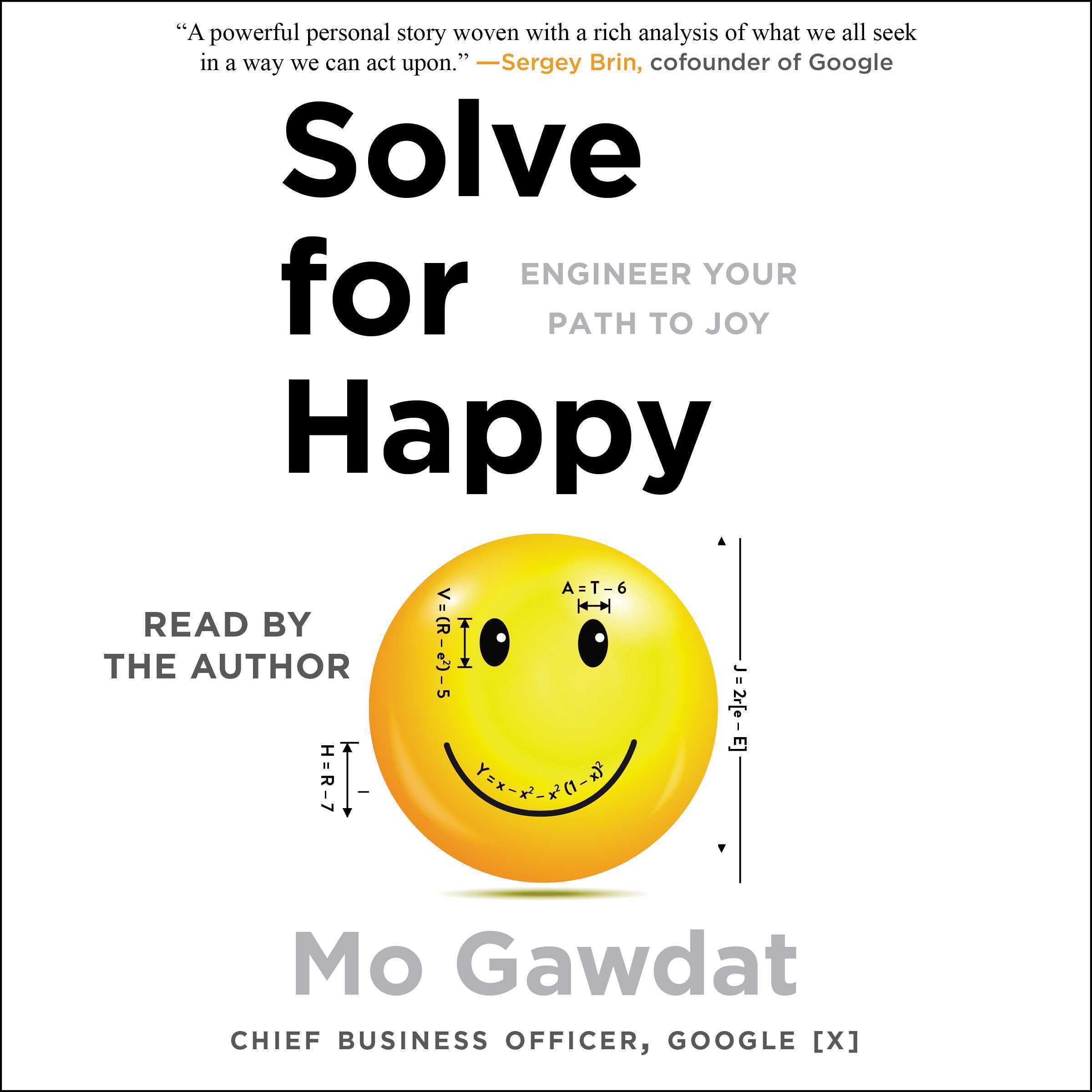 Printable Solve for Happy: Engineering Your Path to Joy Audiobook Cover Art