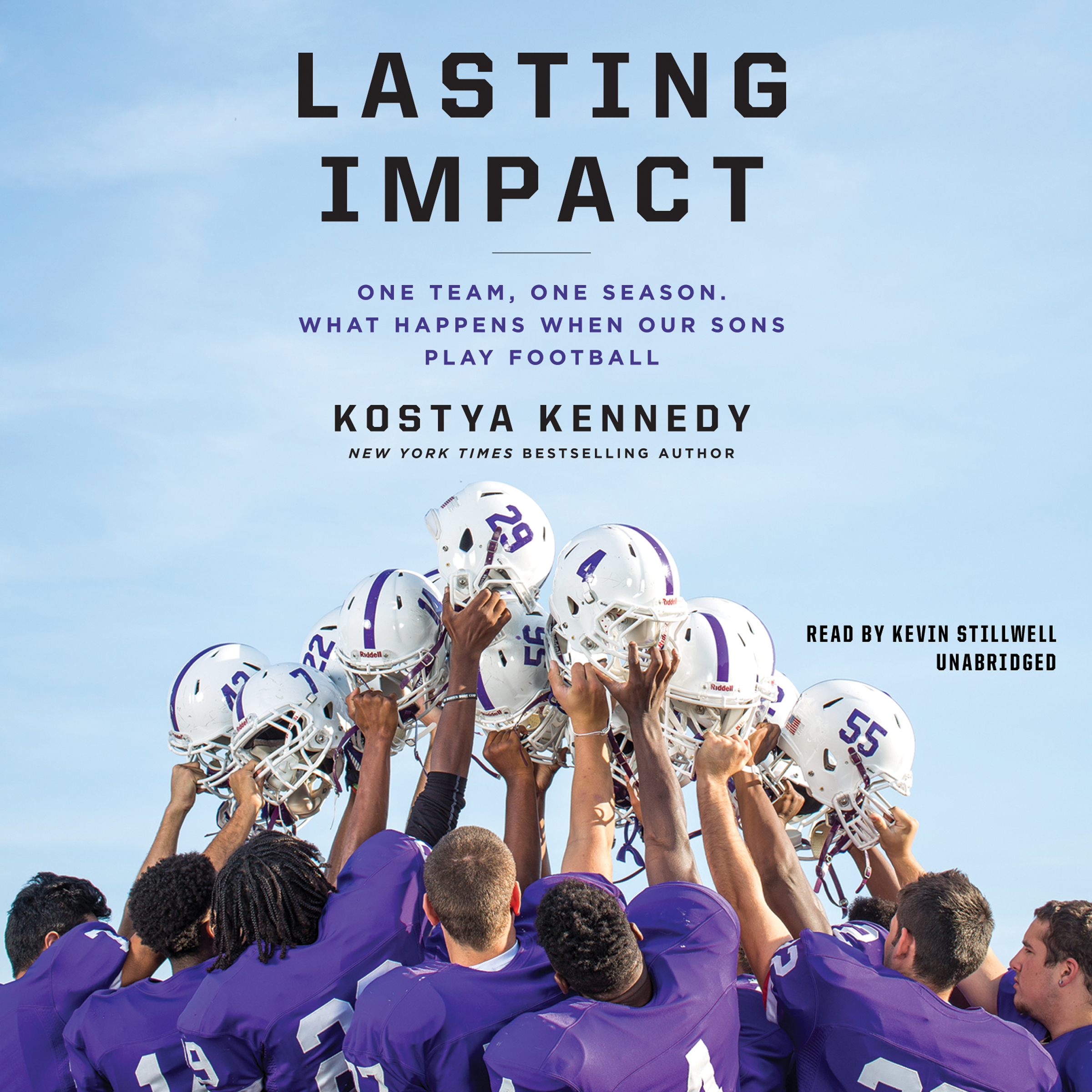 Printable Lasting Impact: One Team, One Season. What Happens When Our Sons Play Football Audiobook Cover Art