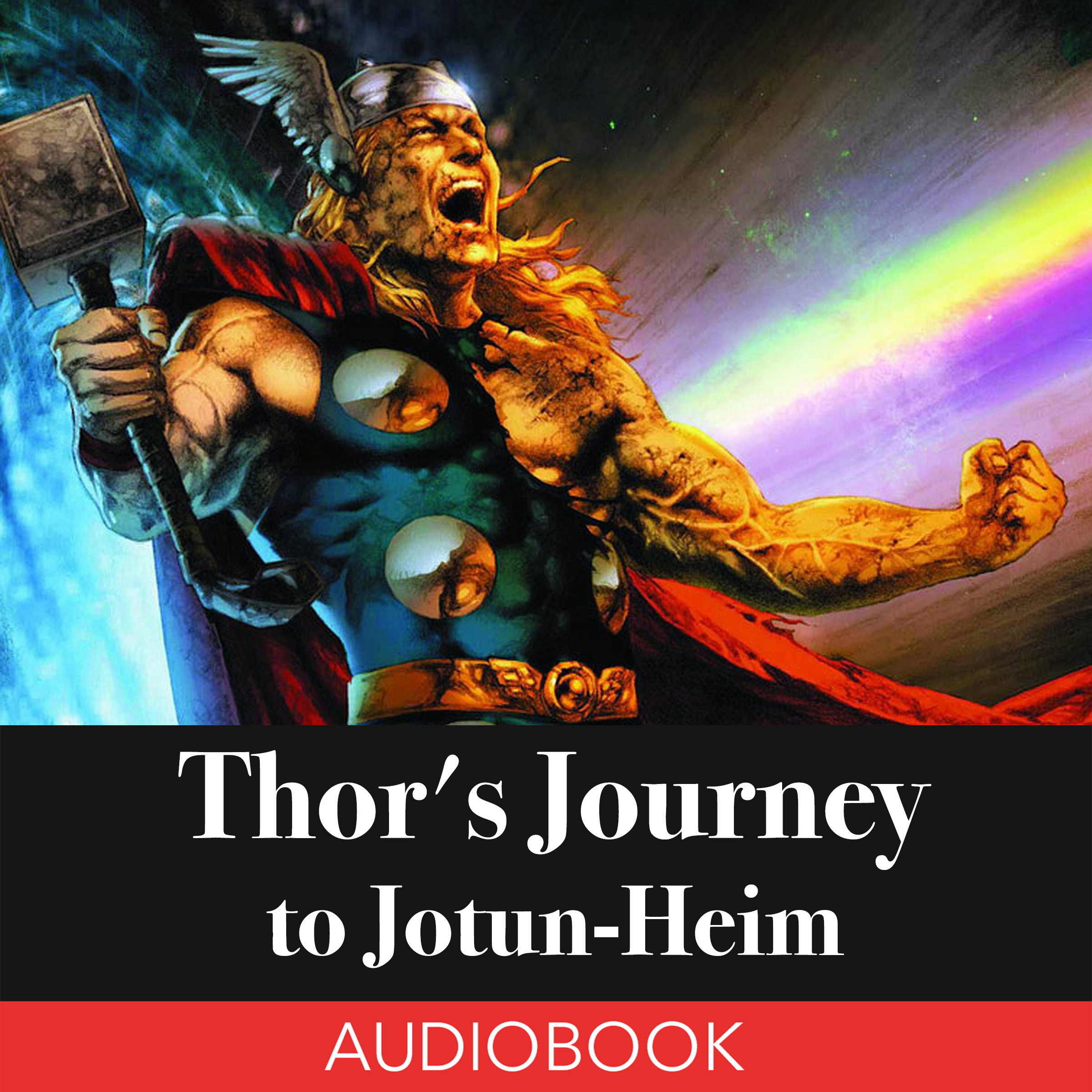 Printable Thor's Journey to Jotun-Heim: A Norse Myth Audiobook Cover Art