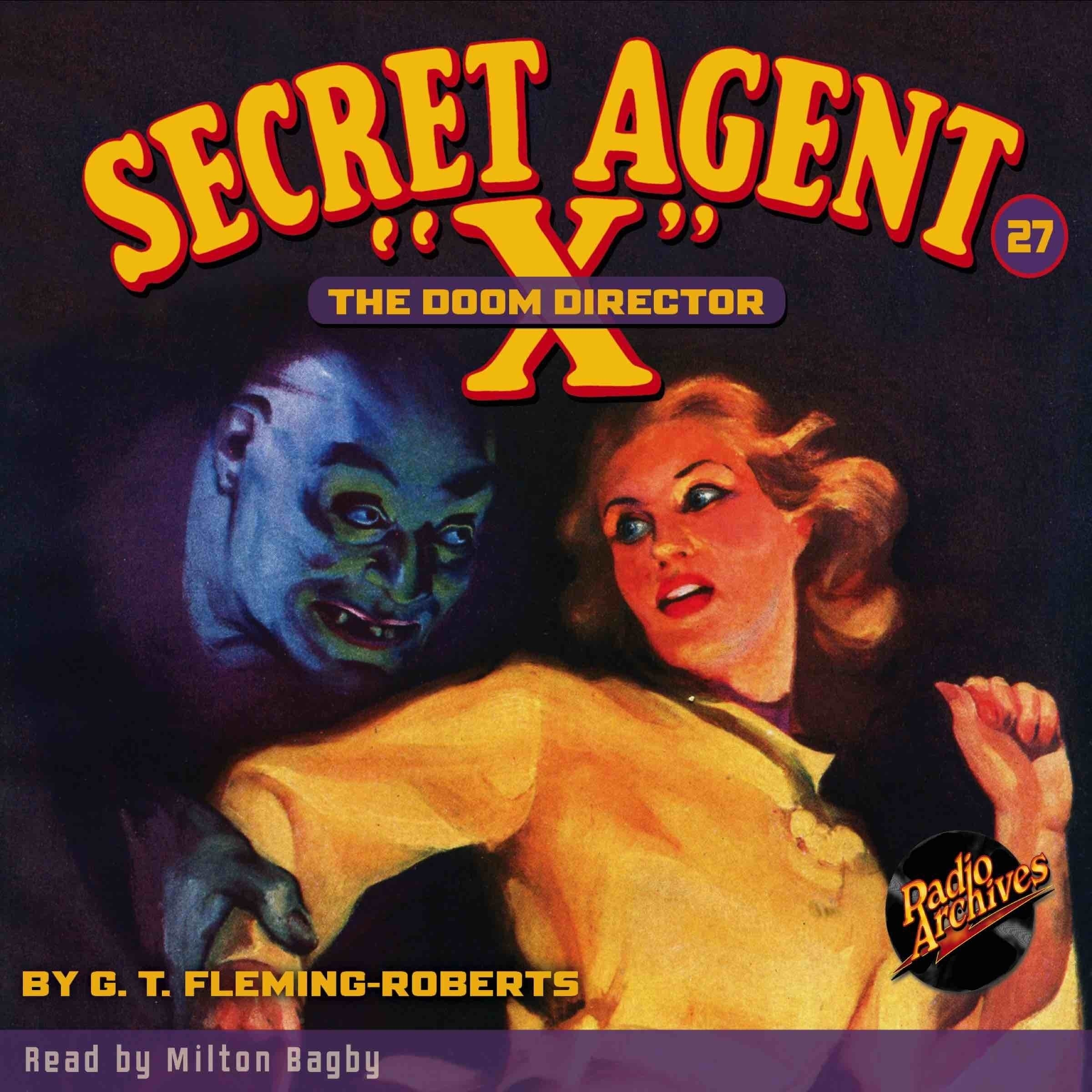 Printable Secret Agent 'X': The Doom Director Audiobook Cover Art