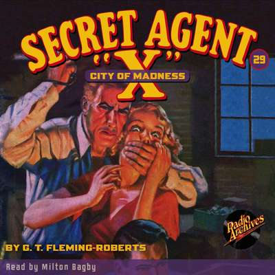 Secret Agent X: City of Madness Audiobook, by G. T. Fleming-Roberts