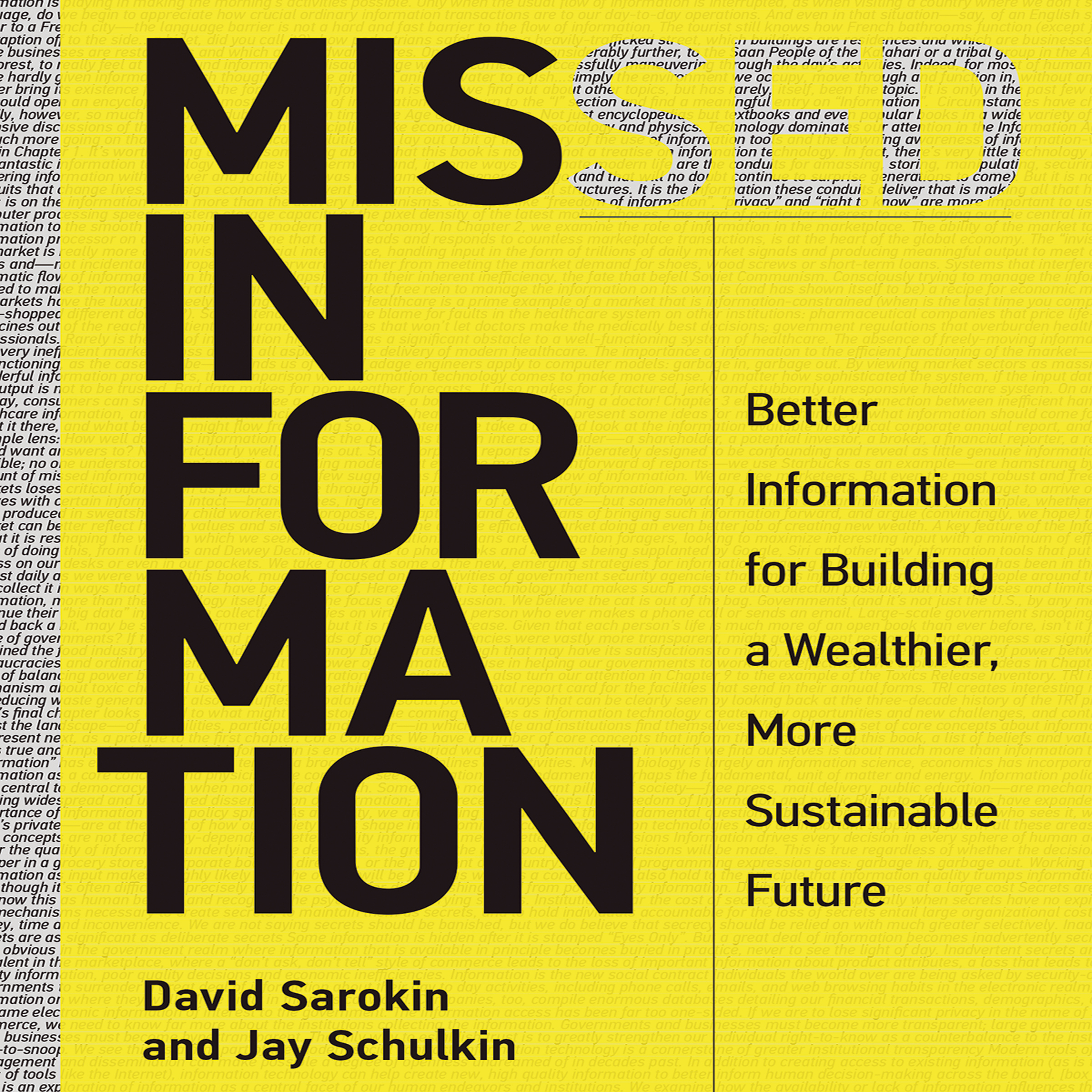 Printable Missed Information: Better Information for Building a Wealthier, More Sustainable Future Audiobook Cover Art