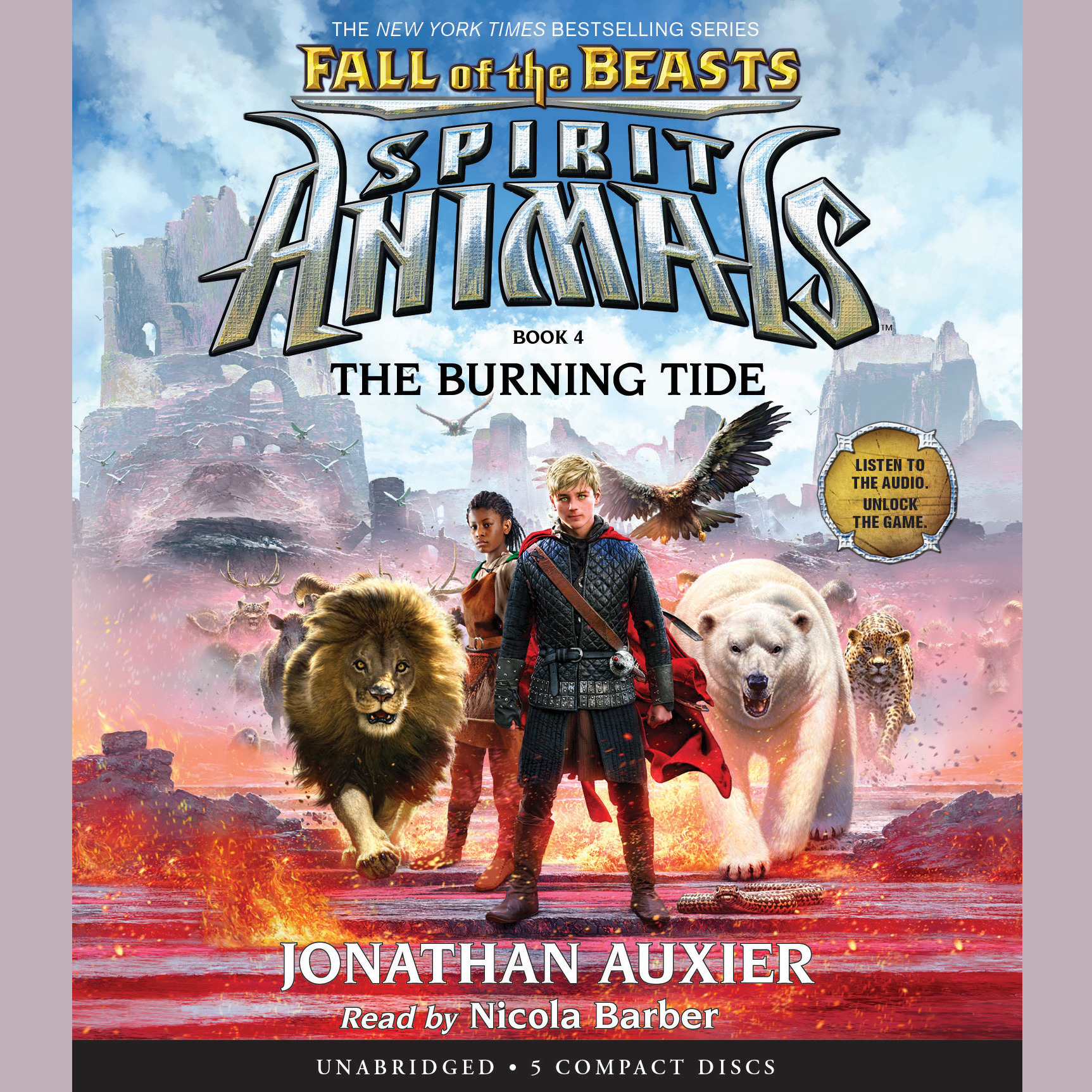 Printable The Burning Tide Audiobook Cover Art