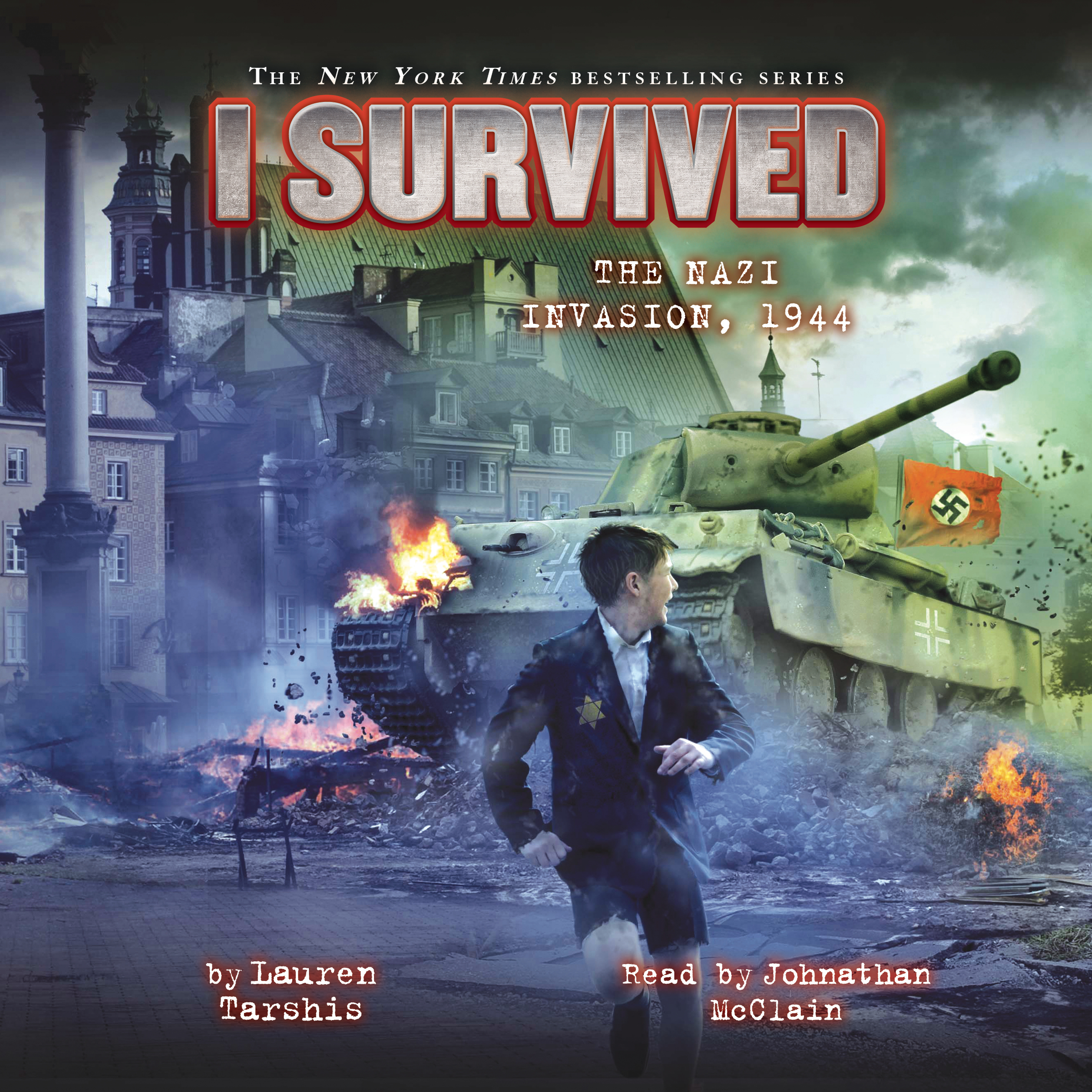 Printable I Survived the Nazi Invasion, 1944 Audiobook Cover Art
