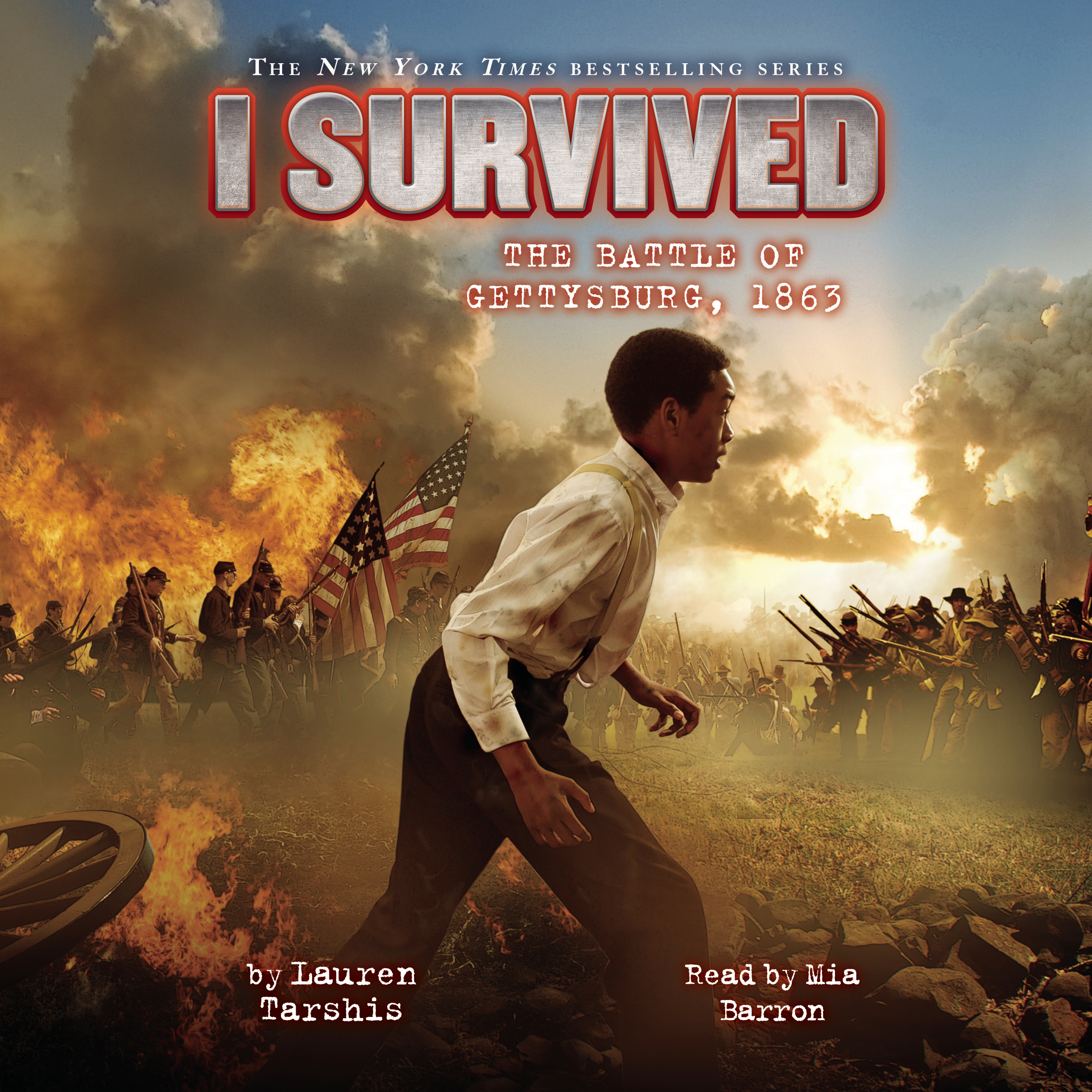 Printable  I Survived the Battle of Gettysburg, 1863 Audiobook Cover Art