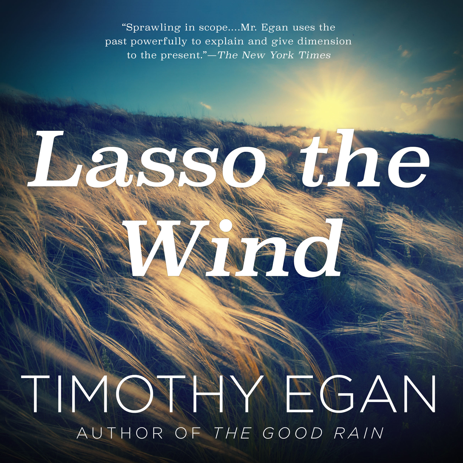 Printable Lasso the Wind: Away to the New West Audiobook Cover Art