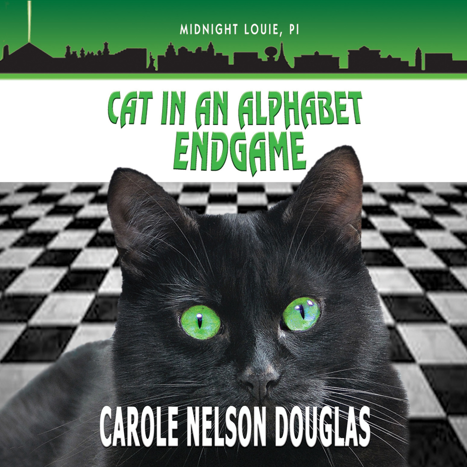 Printable Cat in an Alphabet Endgame Audiobook Cover Art