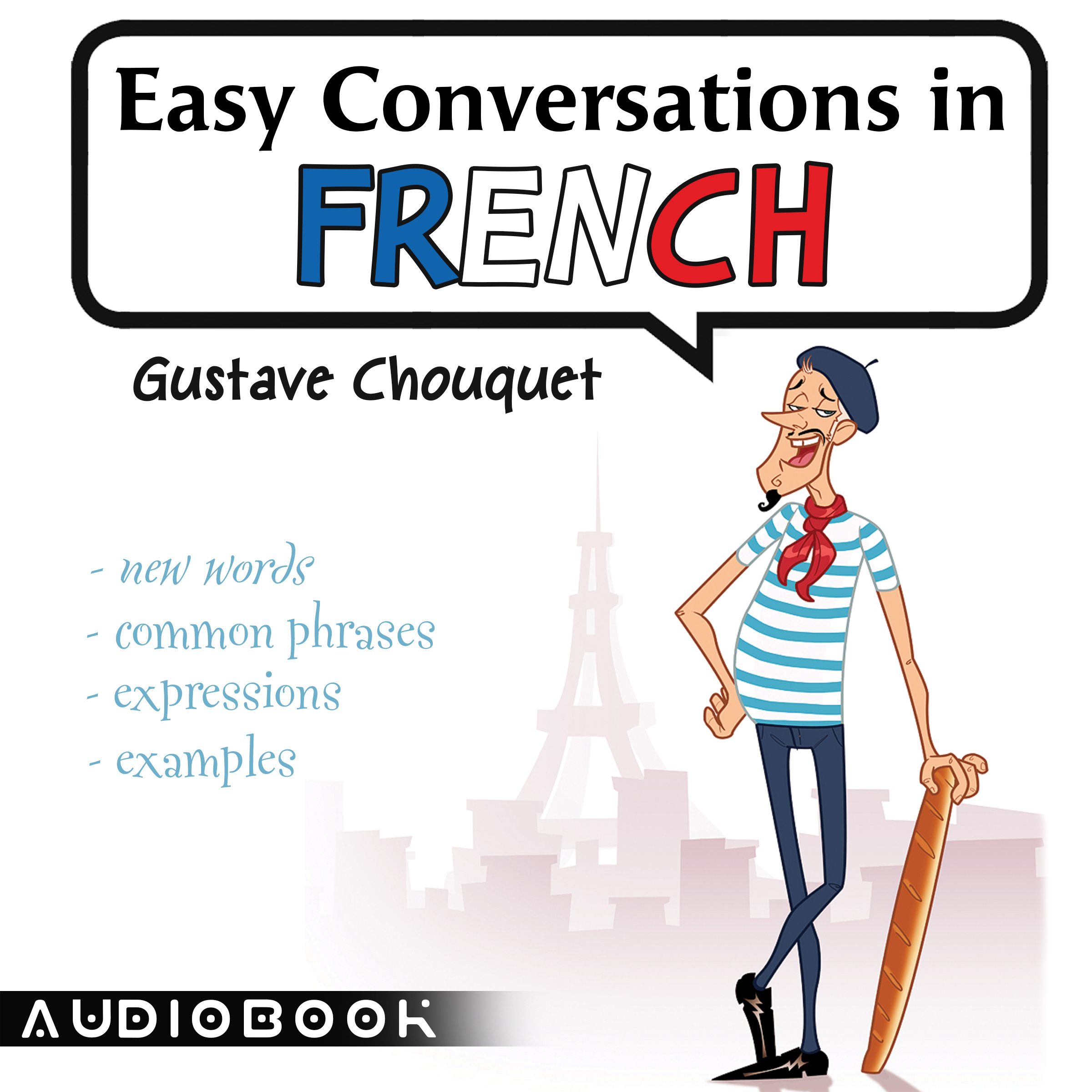 Printable Easy Conversations in French Audiobook Cover Art