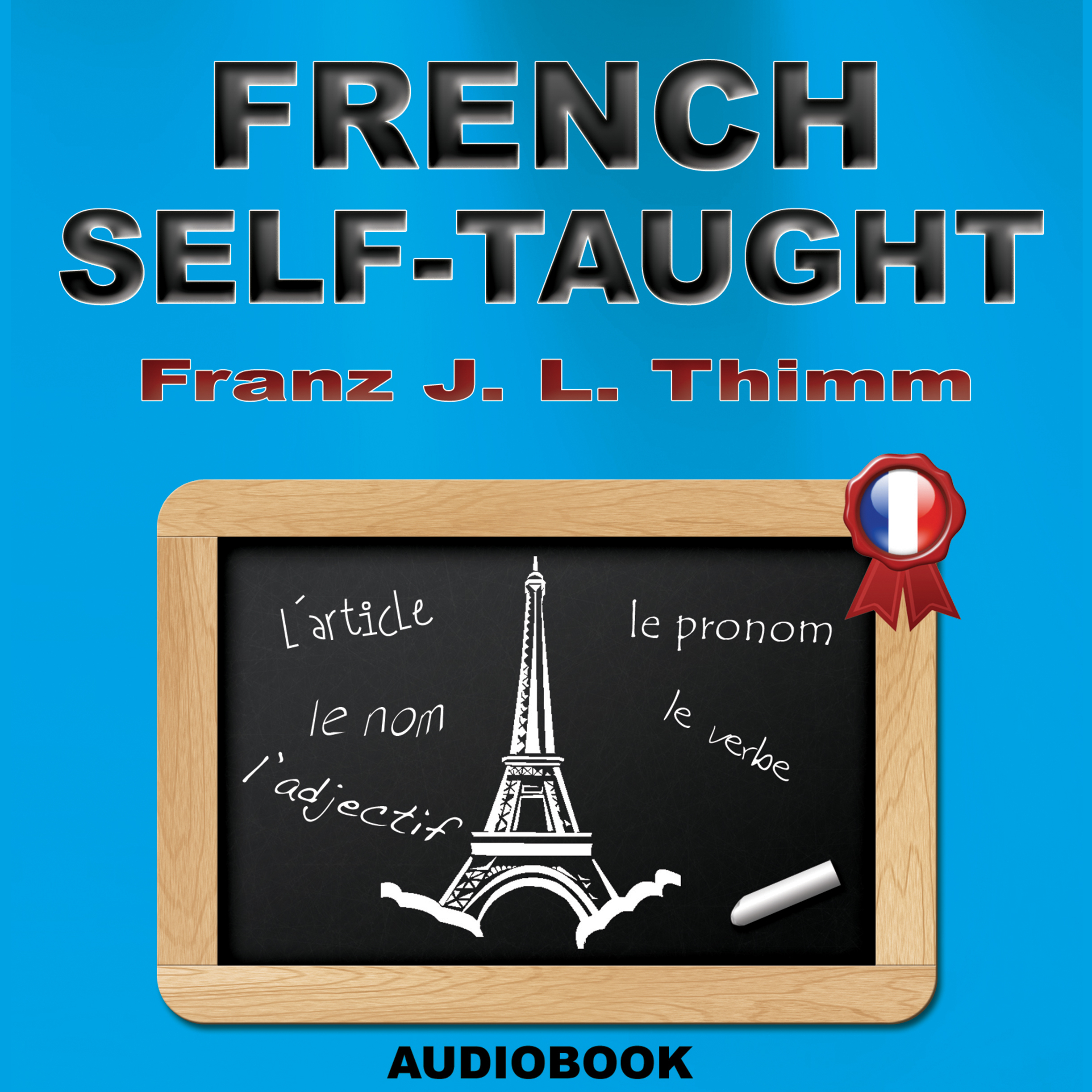 Printable French Self-Taught Audiobook Cover Art