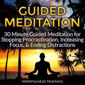 Guided Meditation: 30 Minute Guided Meditation for Stopping Procrastination, Increasing Focus, & Ending Distractions Audiobook, by Mindfulness Training