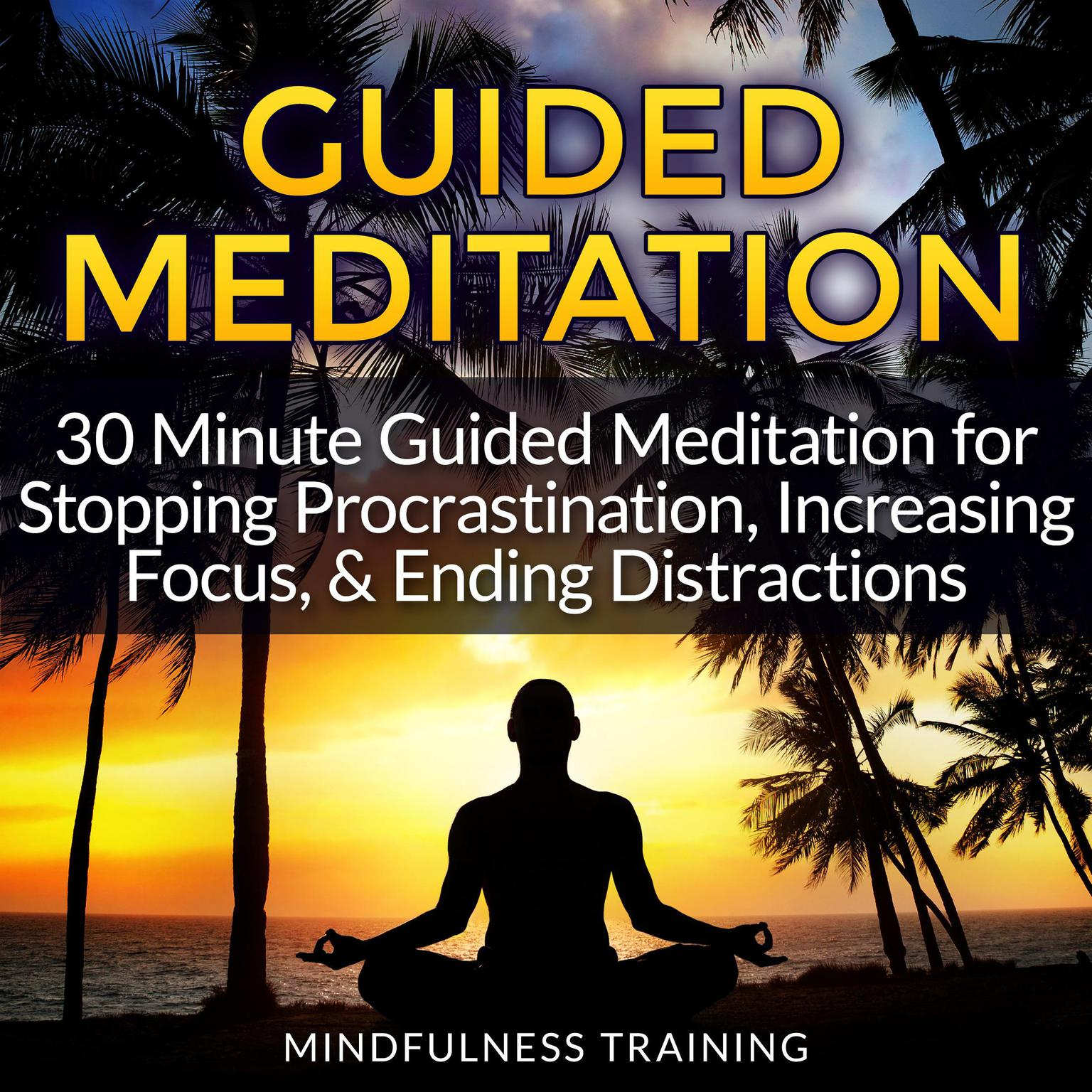 Printable Guided Meditation: 30 Minute Guided Meditation for Stopping Procrastination, Increasing Focus, & Ending Distractions (Deep Sleep Self Hypnosis, Law of Attraction Affirmations, Anxiety & Stress Relief, Guided Imagery & Relaxation Techniques): 30 Minute Guided Meditation for Stopping Procrastination, Increasing Focus, & Ending Distractions Audiobook Cover Art
