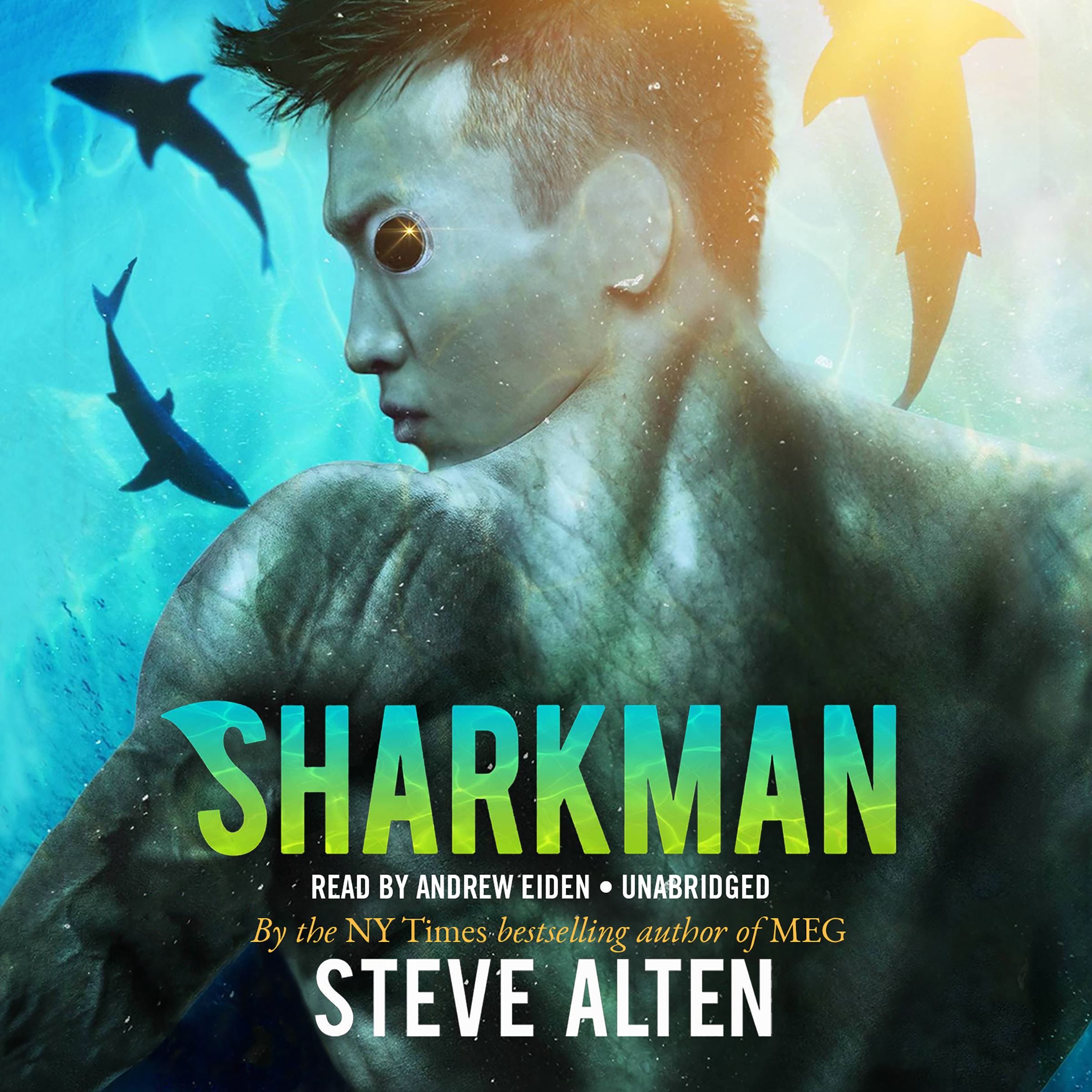 Printable Sharkman Audiobook Cover Art