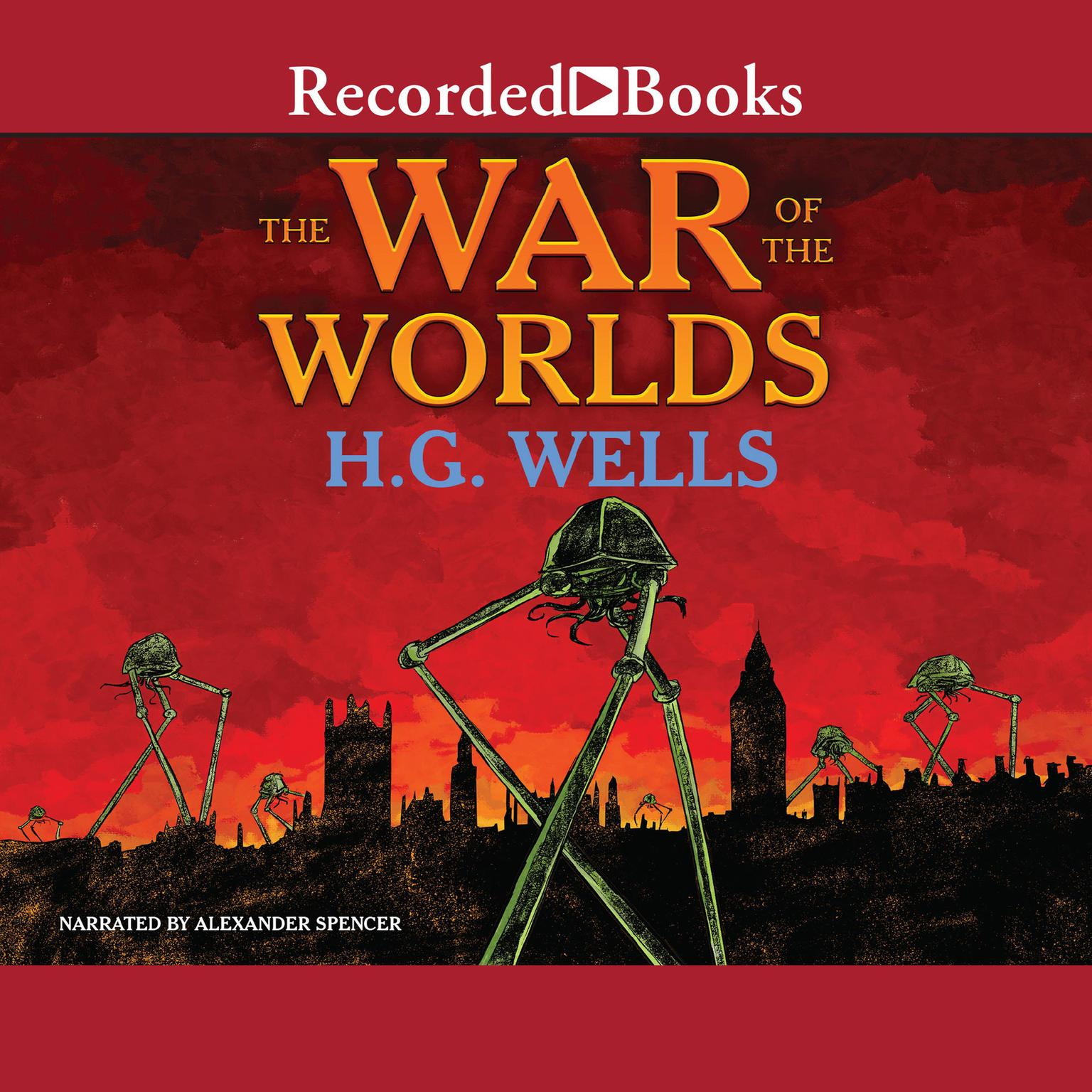 Printable The War of the Worlds Audiobook Cover Art