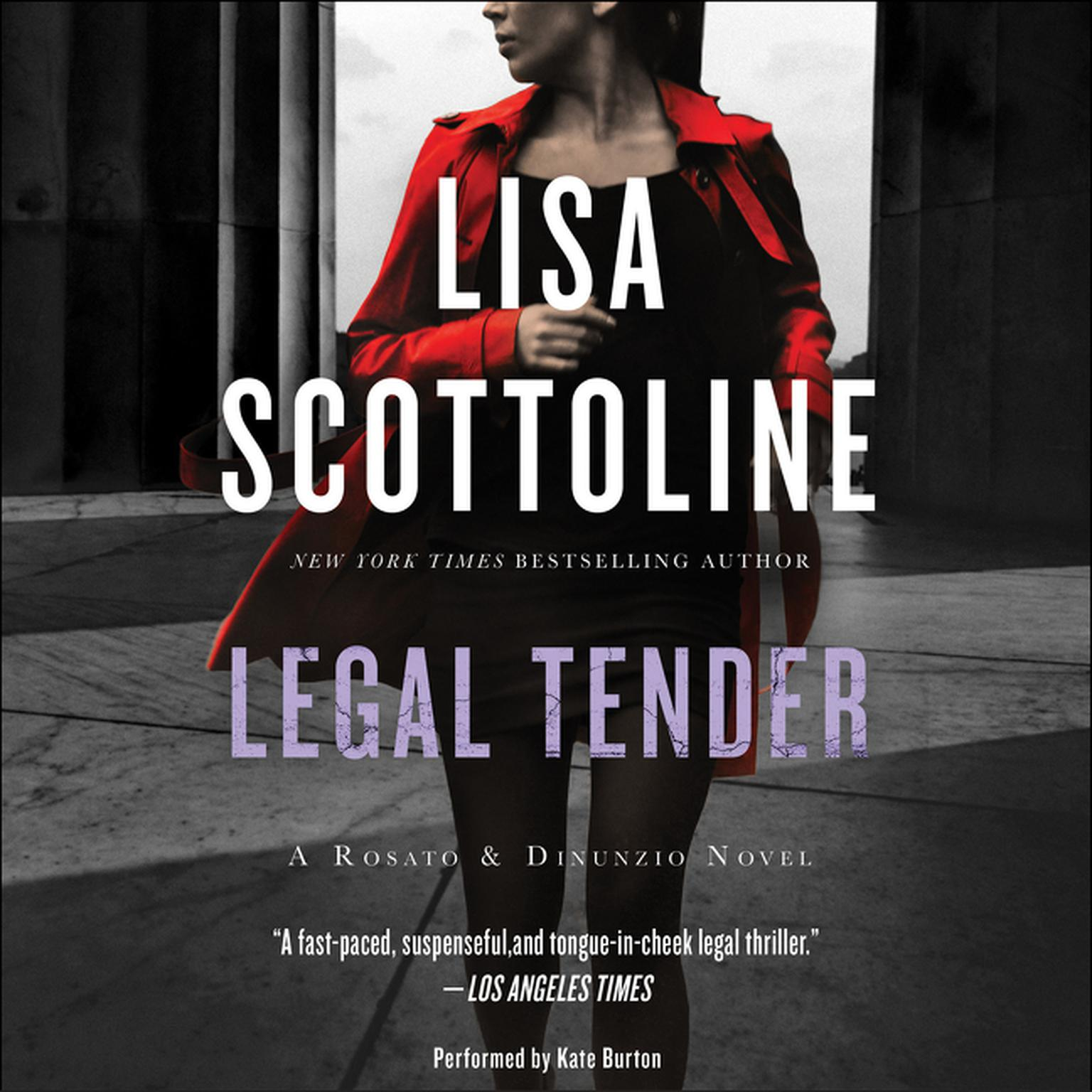 Printable Legal Tender: A Rosato & Associates Novel Audiobook Cover Art