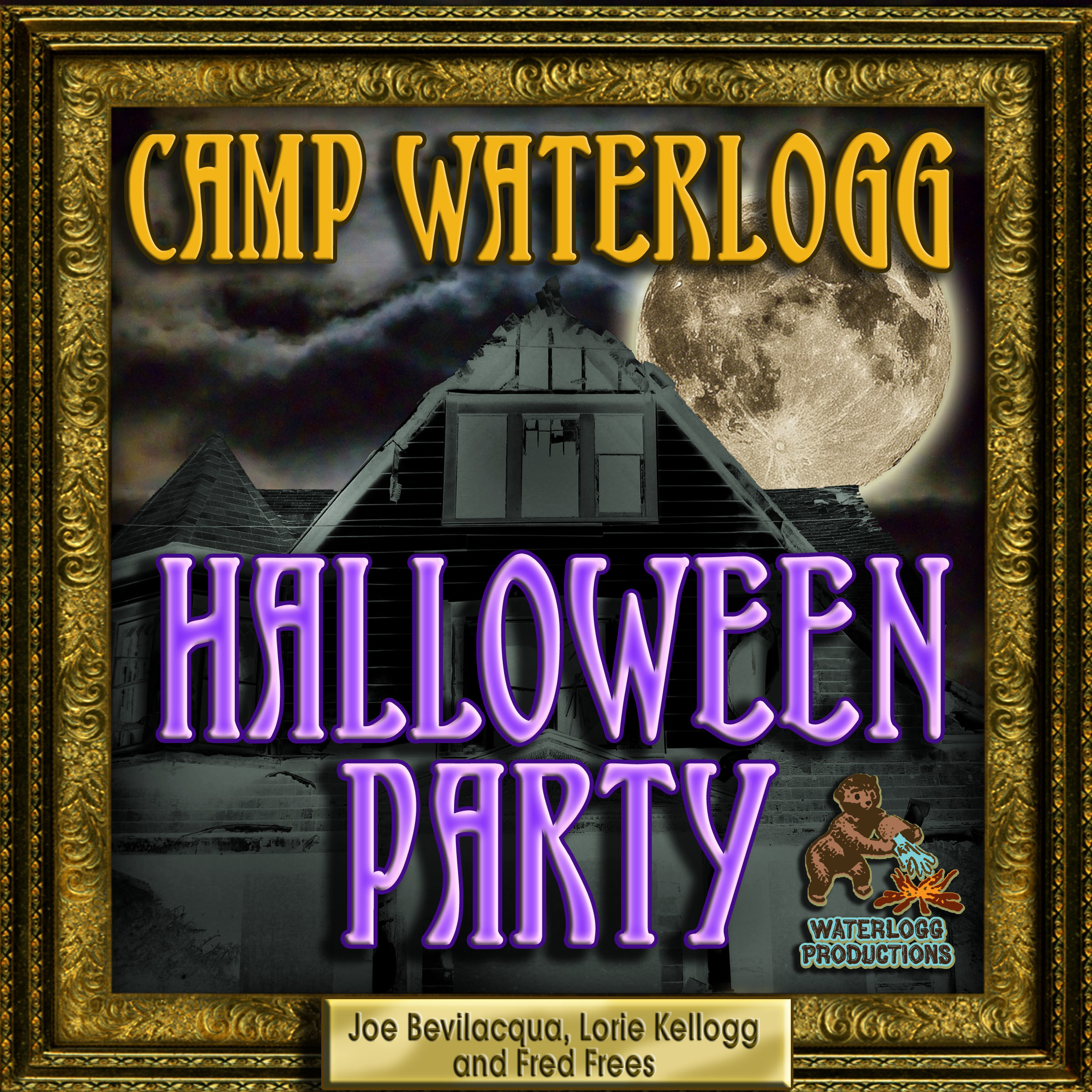 Printable The Camp Waterlogg Halloween Party Audiobook Cover Art