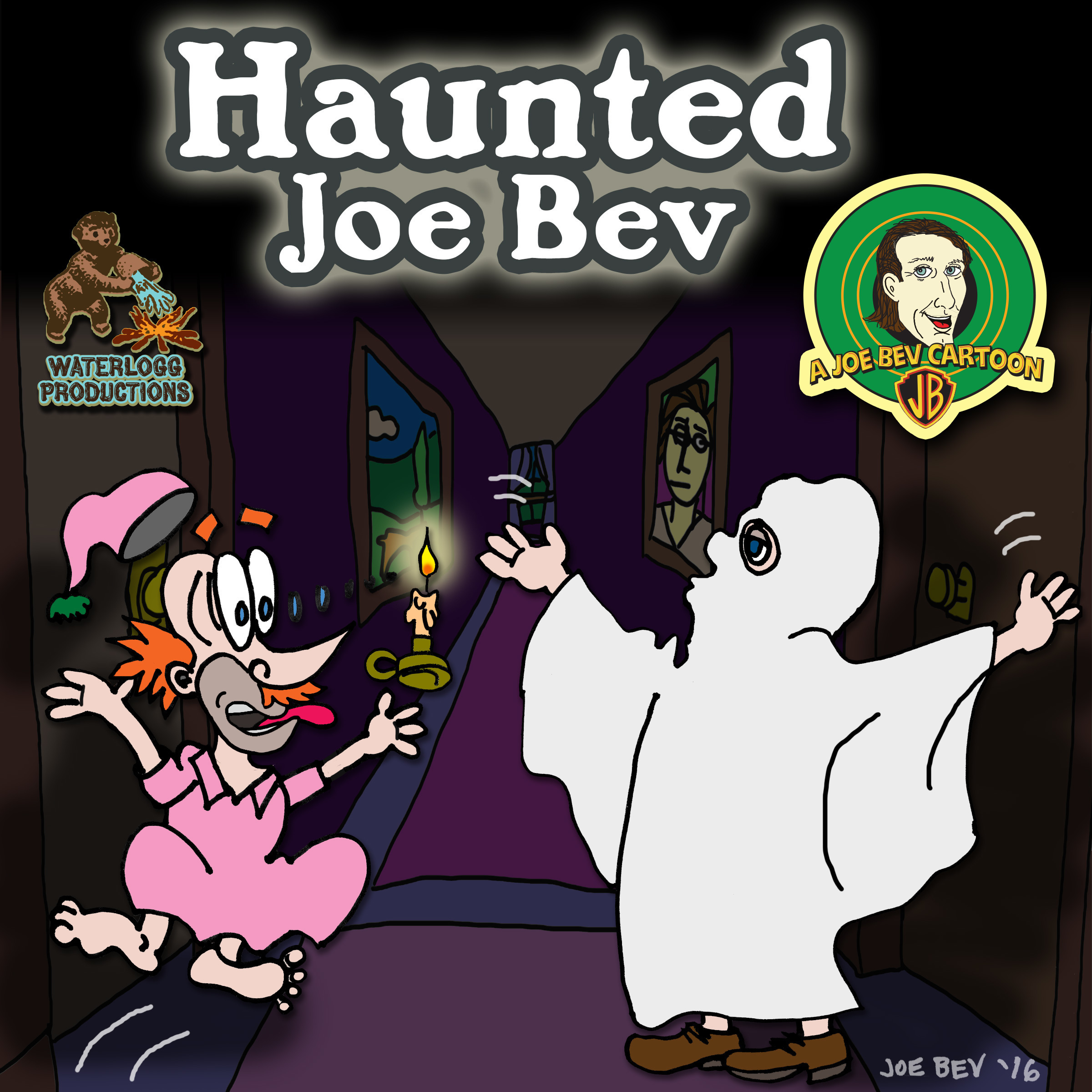 Printable Haunted Joe Bev: A Joe Bev Cartoon, Volume 7 Audiobook Cover Art