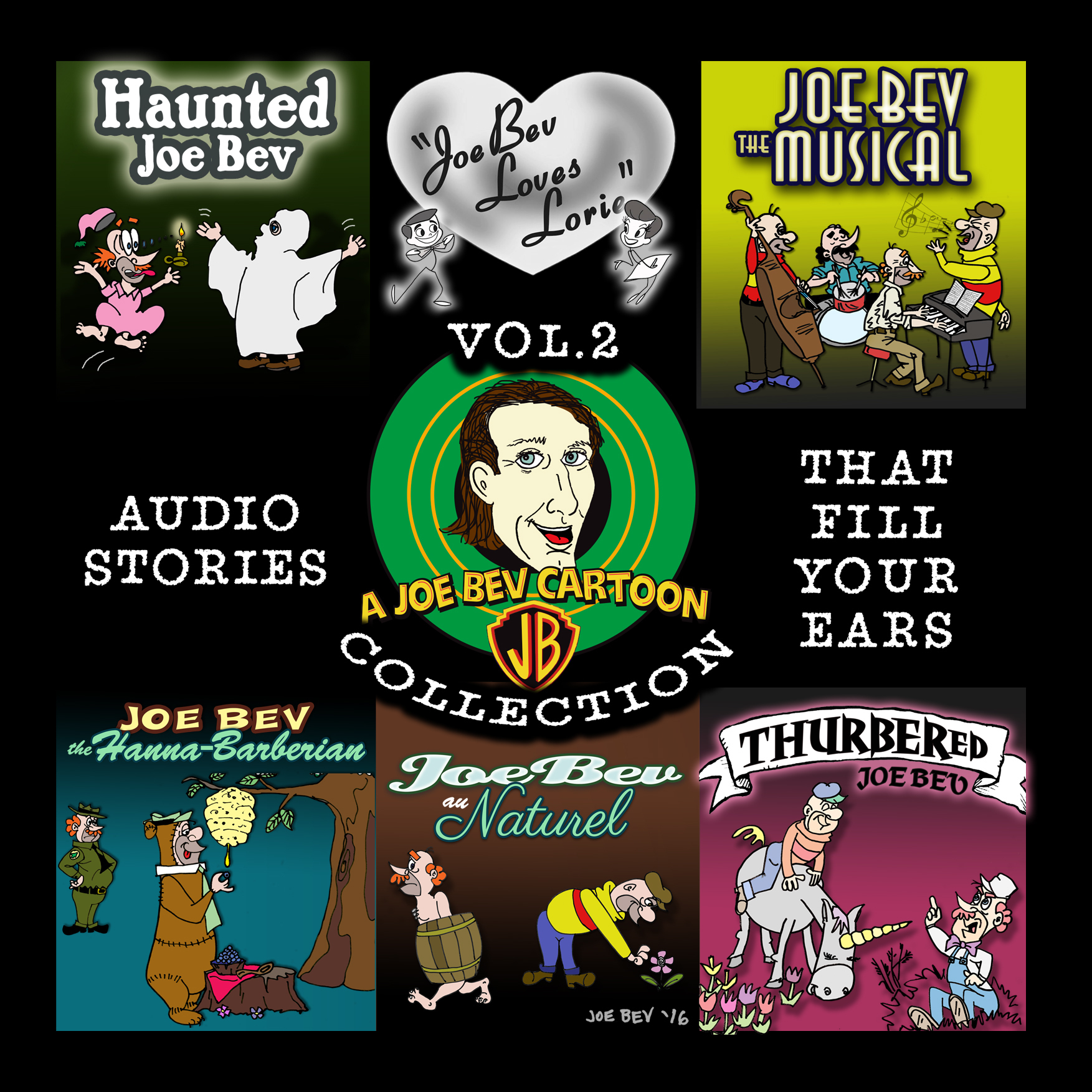 Printable A Joe Bev Cartoon Collection, Volume Two Audiobook Cover Art