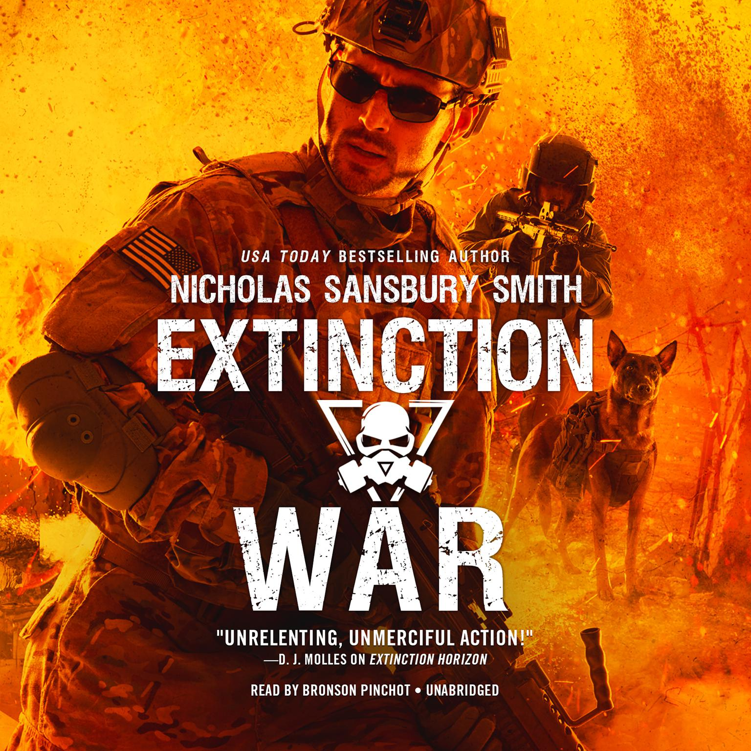 Printable Extinction War Audiobook Cover Art