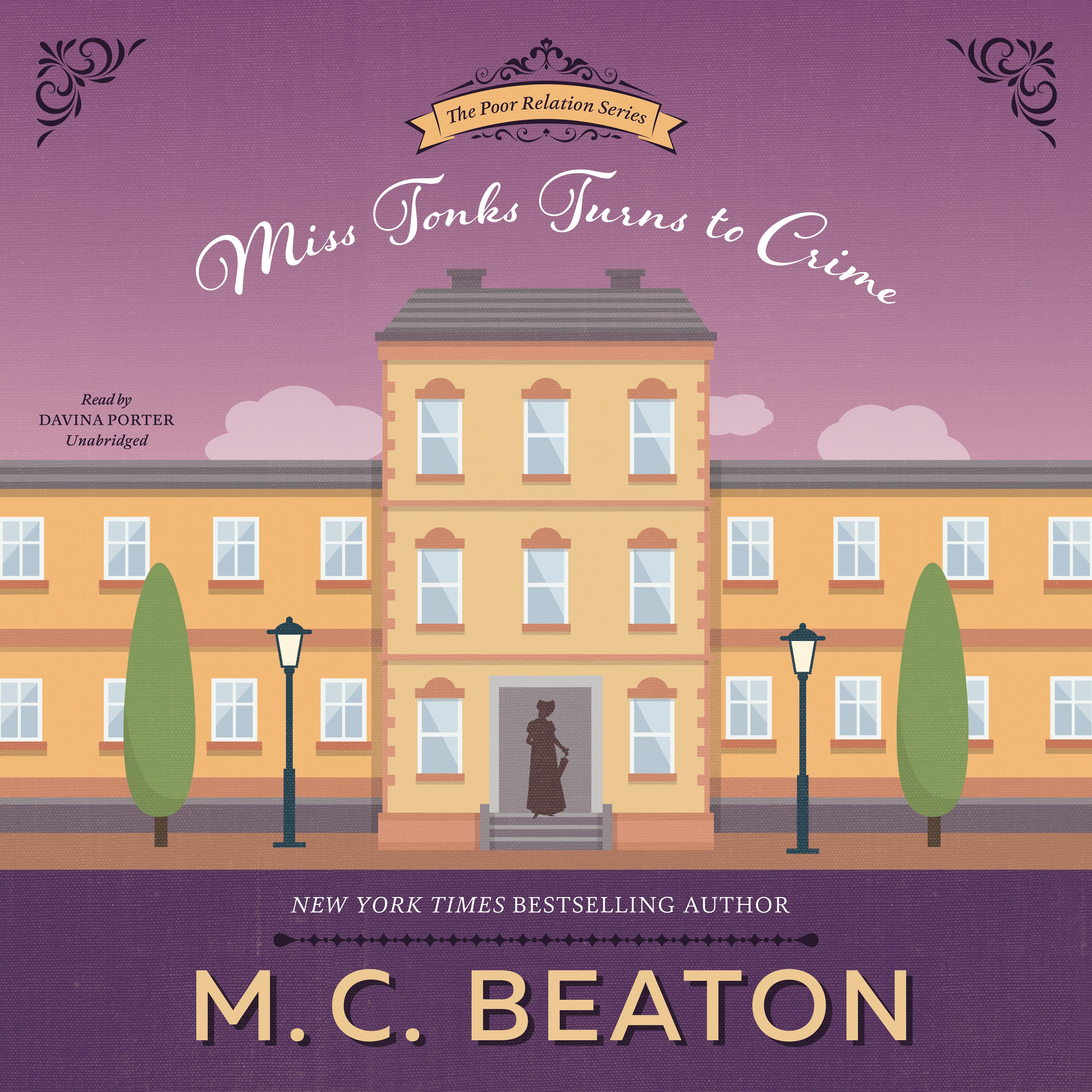 Printable Miss Tonks Turns to Crime: A Novel of Regency England Audiobook Cover Art