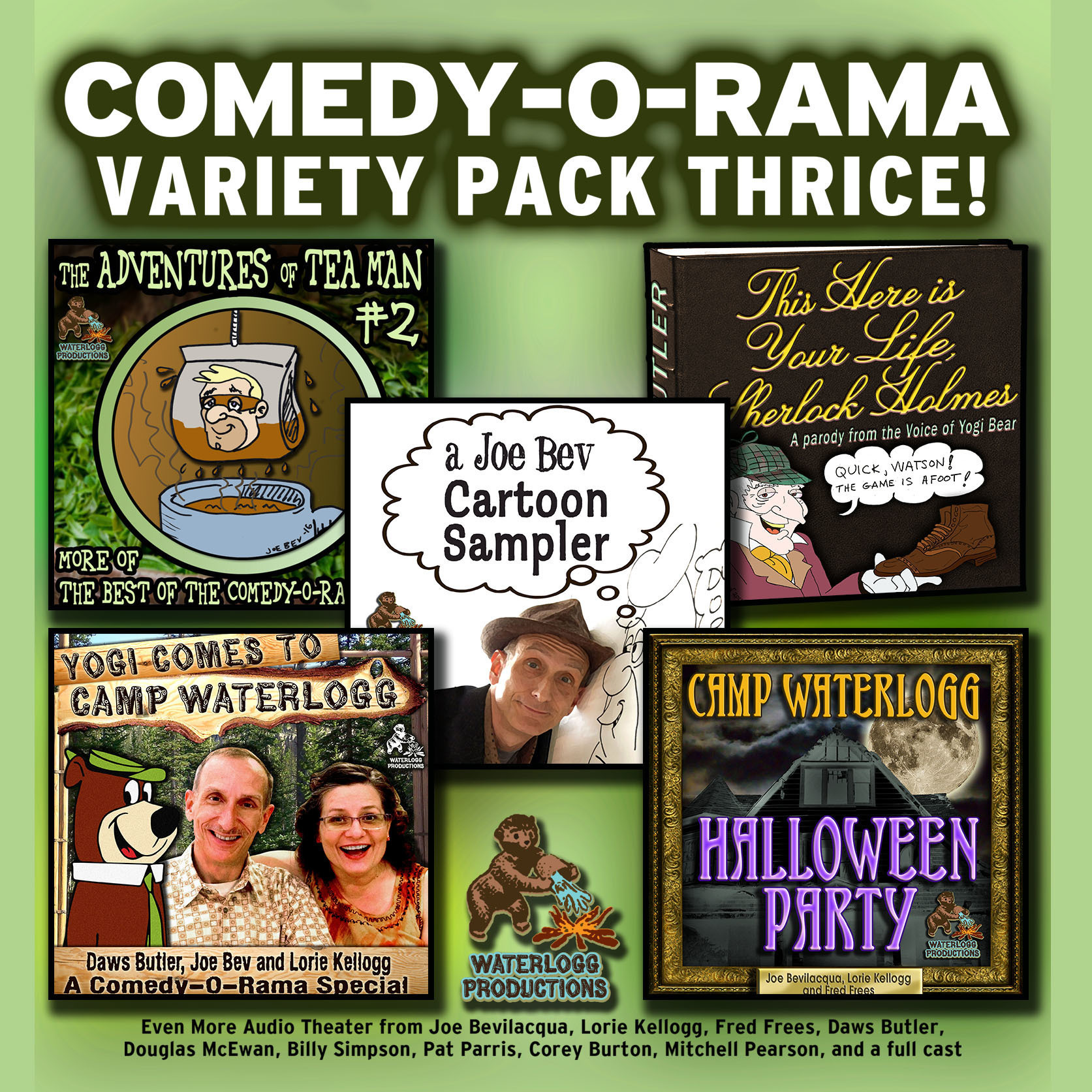 Printable Comedy-O-Rama Variety Pack Thrice Audiobook Cover Art