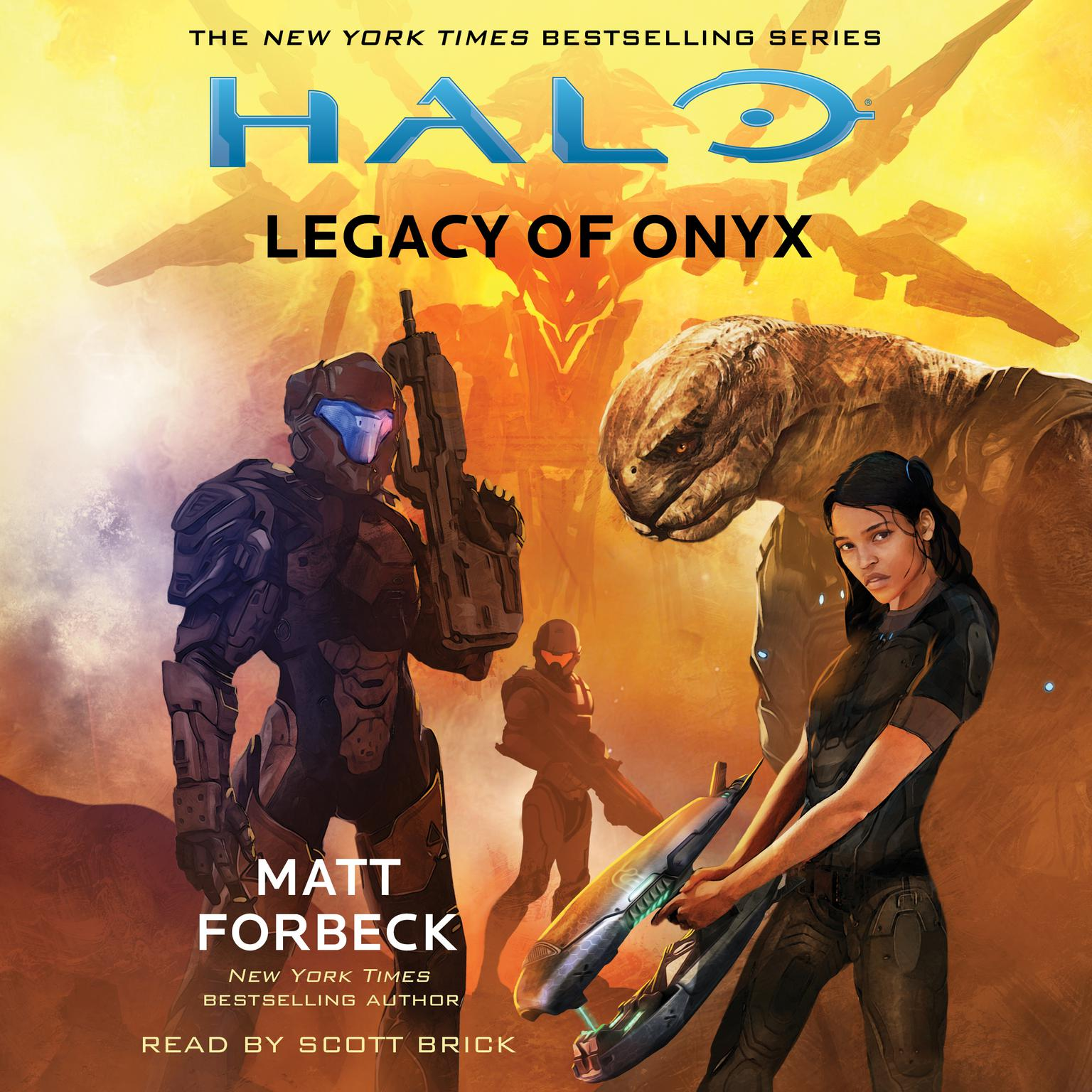 Printable HALO: Legacy of Onyx Audiobook Cover Art