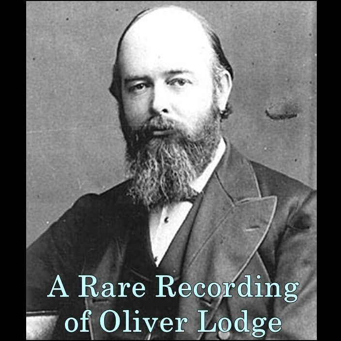 Printable A Rare Recording of Oliver Lodge Audiobook Cover Art