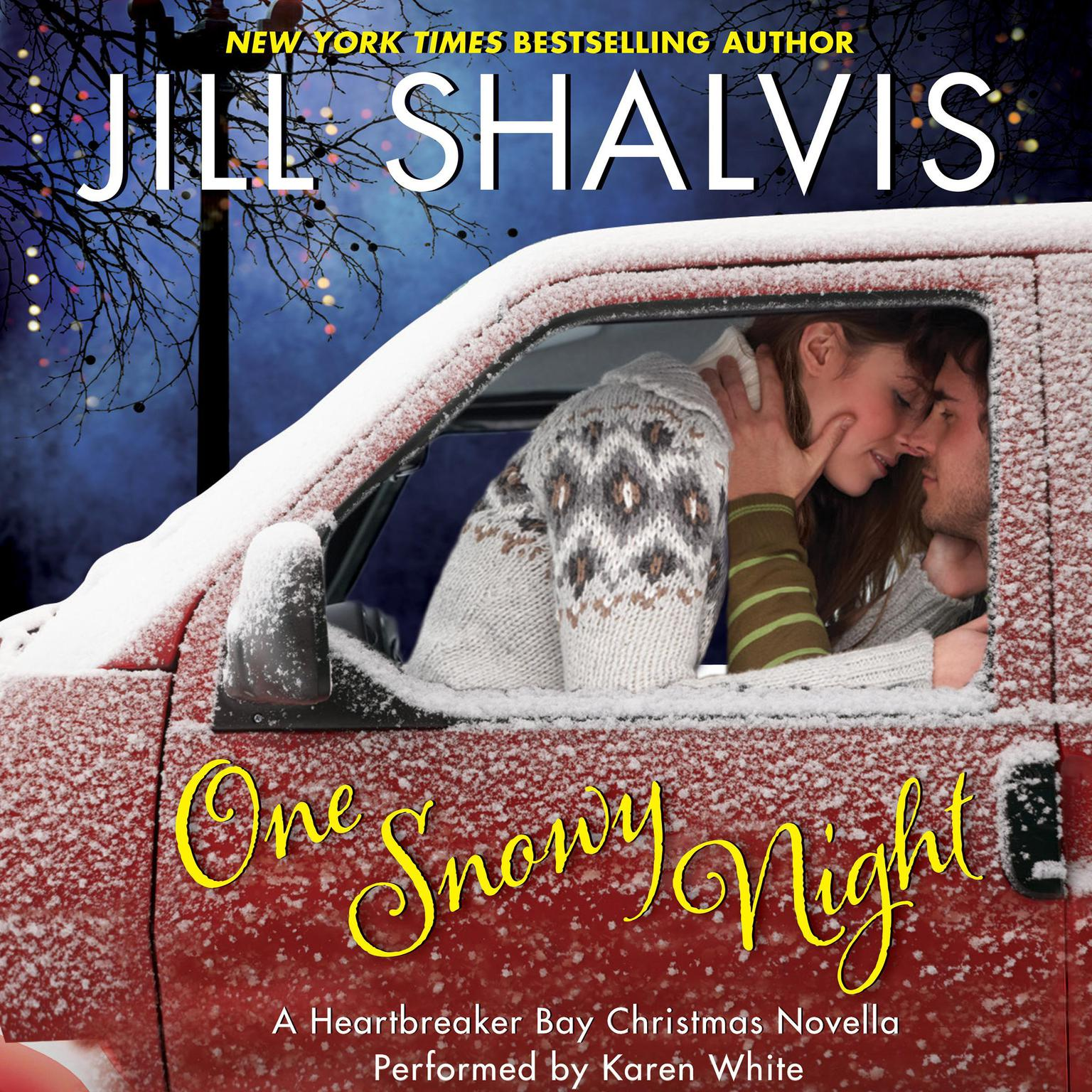 Printable One Snowy Night: A Heartbreaker Bay Christmas Novella Audiobook Cover Art
