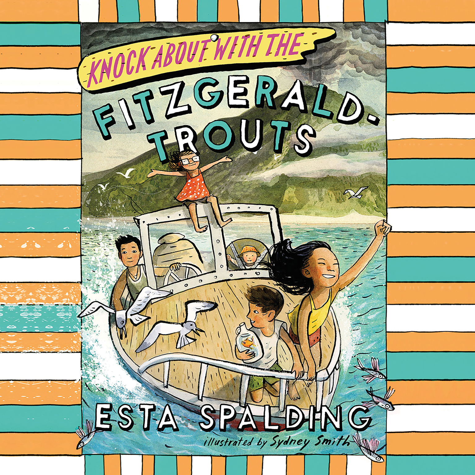 Printable Knock About with the Fitzgerald-Trouts Audiobook Cover Art