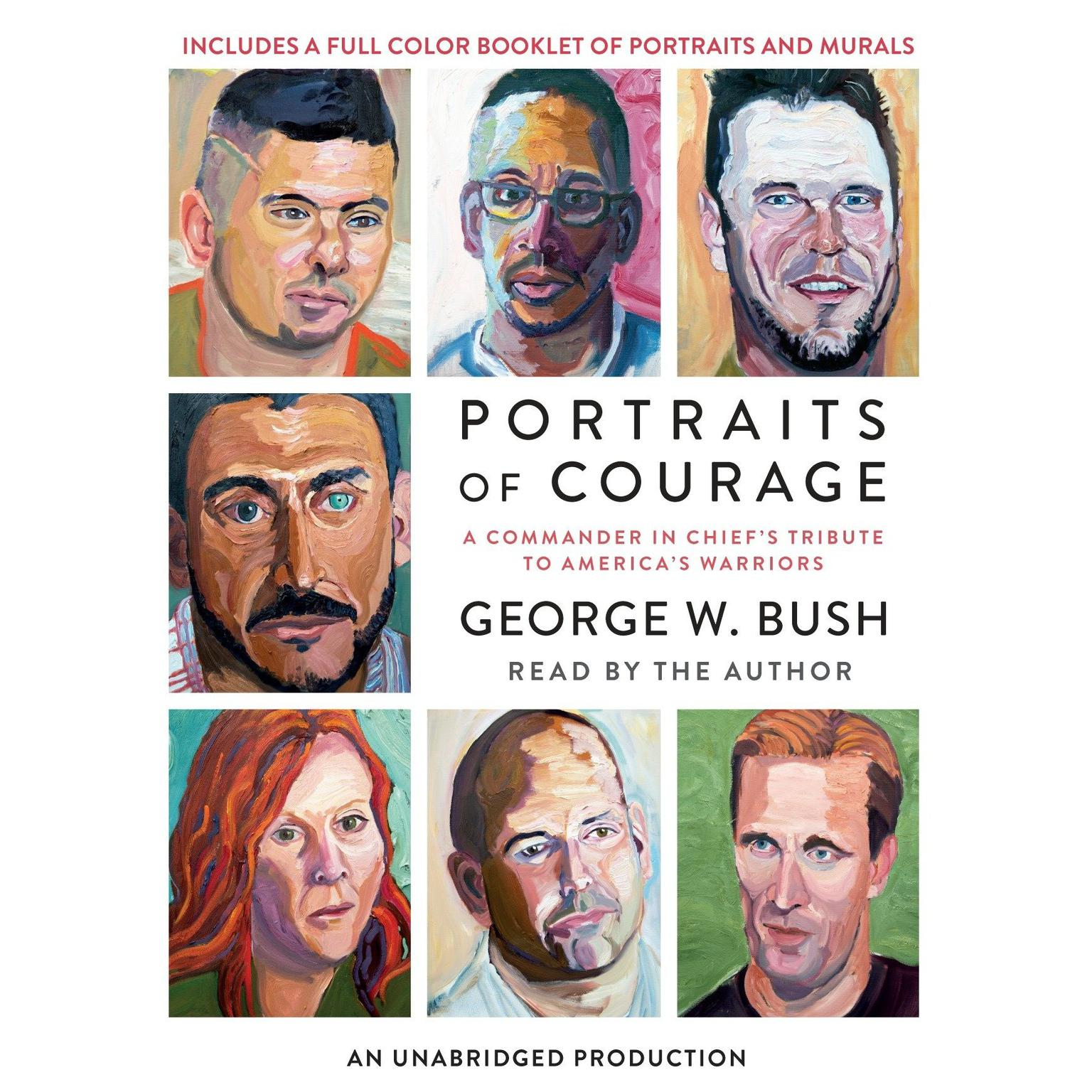 Printable Portraits of Courage: A Commander in Chief's Tribute to America's Warriors Audiobook Cover Art