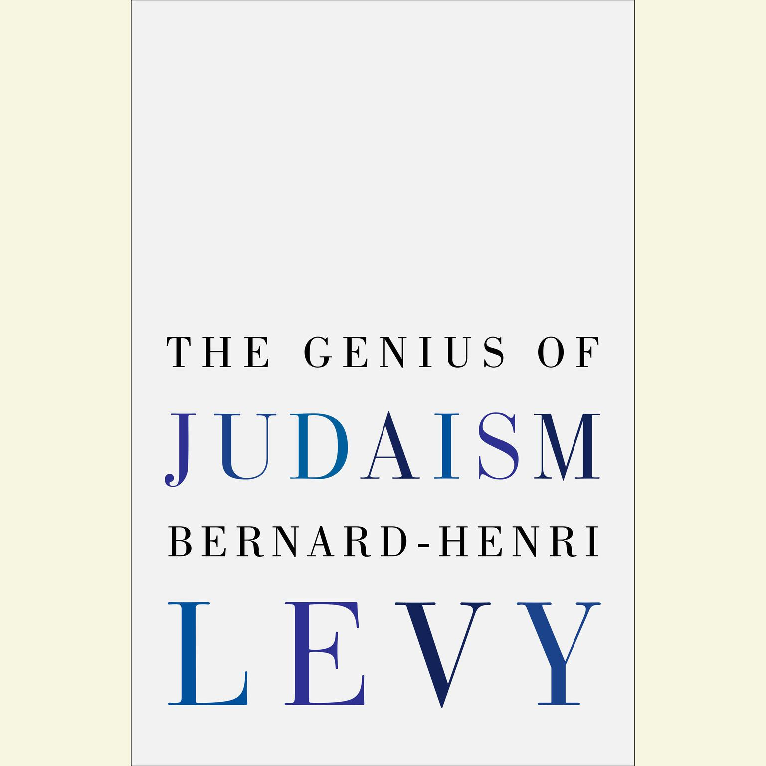 Printable The Genius of Judaism Audiobook Cover Art