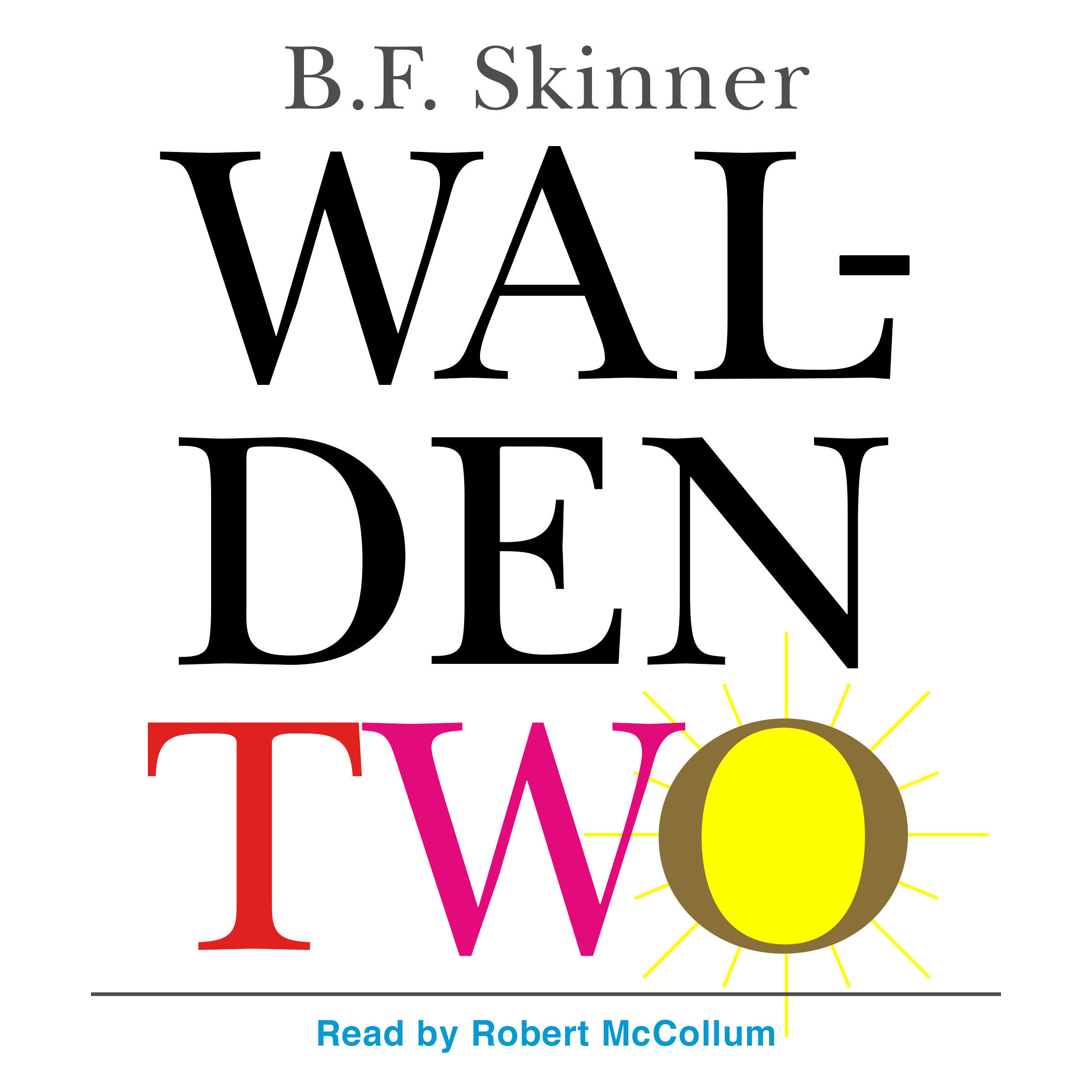 Printable Walden Two Audiobook Cover Art
